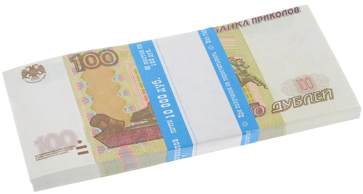 Блокнот Эврика Пачка 100 рублей, 90 листов95520Блокнот Эврика Пачка 100 рублей - это яркий аксессуар для тех, кто ценит практичные и оригинальные вещи. Блокнот состоит из 90 разноцветных линованных листов. Такой оригинальный блокнот поможет вам записать важные мысли и заметки, а его внешний вид не позволит затеряться среди других вещей на вашем столе. Размер одного листа: 6,5 х 15,5 см.