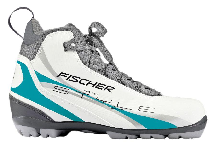 Ботинки лыжные беговые Fischer XC Sport My Style, цвет: серый, белый, зеленый. S14413. Размер 38S14413Fischer XC Sport My Style - это отличная модель для лыжных прогулок. Женская анатомическая колодка, подошва Soft и более тонкая стелька обеспечивают комфорт и придают необходимую гибкость подошве. Технологии: Internal Molded Heel Cap - внутренняя пластиковая вставка анатомической формы в пяточной части. Очень легкая и термоформируемая. Easy Entry Loops - широкое раскрытие ботинка и практичная петля на пятке облегчают надевание/снимание ботинок. Cleansport NXT- специальная пропитка подкладки и стелек ботинок. Система из полезных микробов, которые устраняют неприятный запах. T3 - полиуретановая подошва с хорошей гибкостью, устойчивая к износу при ходьбе. Также используется в детских ботинках. Ladies Fit Concept - для женской целевой группы разработан свой тип колодки, который обеспечивает наилучший комфорт при катании и максимальную передачу энергии.