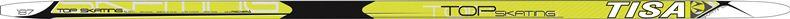Беговые лыжи Tisa Top Skate, 182 см. N90315N90315Лыжи для любителей, также рекомендуются для начинающих, предназначены для катания коньковым ходом. Конструкция Air Channel делает лыжи легкими, а обработка скользящей поверхности Ultra Tuning - быстрыми. Усиленные канты обеспечивают дополнительную торсионную жесткость.