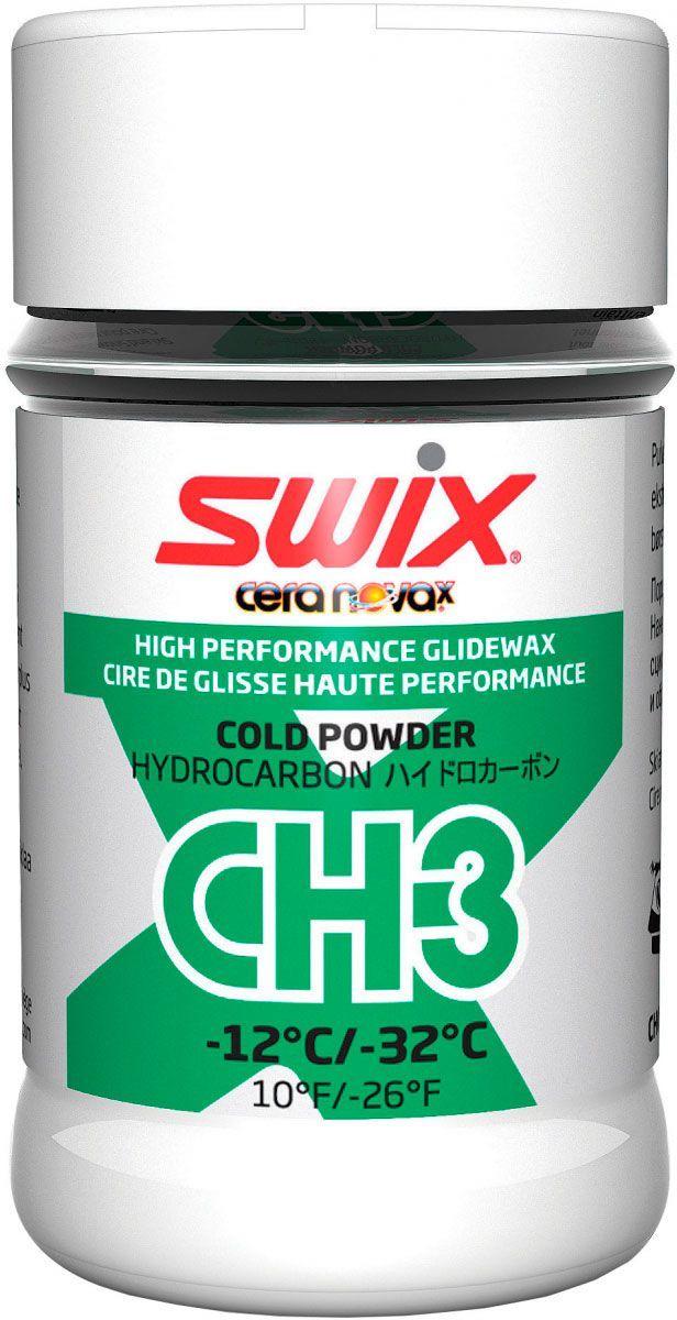 Мазь скольжения Swix CH3X Cold Powder -12C / -32C, 30 гCH03XCH3 ХОЛОДНЫЙ ПОРОШОК упаковка 30 г -12°С…-32°С Это специальная синтетическая углеводородная порошковая мазь скольжения, придающая другим мазям скольжения свойства, улучшающие их износоустойчивость и увеличивая прочность мази при абразивных условиях скольжения. Предназначена для жесткого снега, свежего искусственного снега. Порошок следует наносить на мазь скольжения, пока та находится в расплавленном состоянии или, по крайней мере, пока она не остыла. Даже большое количество CH3 не будет препятствовать хорошему скольжению. Затем следует проутюжить CH3 в слой мази скольжения. Дать полностью остыть, обработать скребком, затем пройтись щеткой.