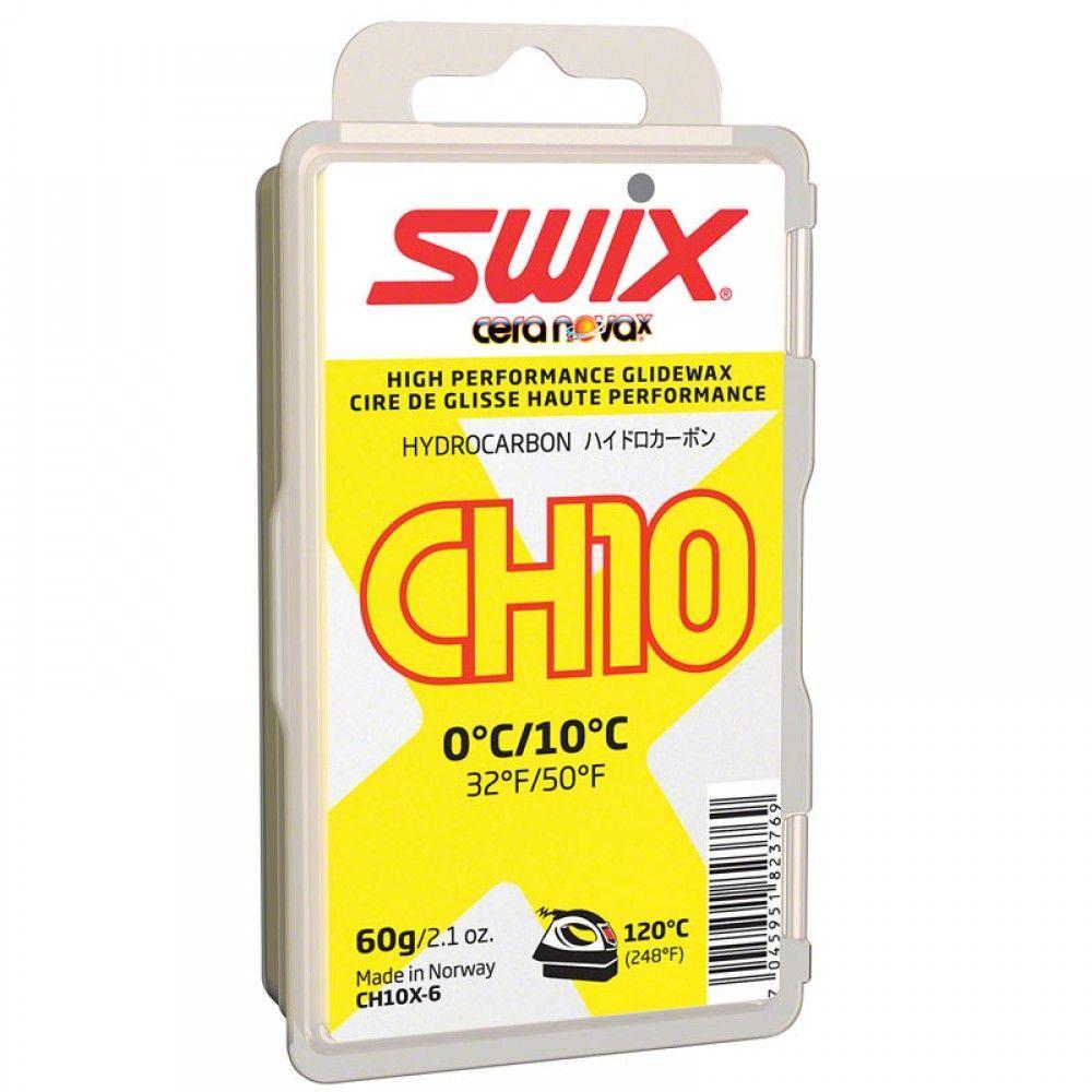 Мазь скольжения Swix CH10X Yellow 0C / +10C, 60 гCH10X-6Температурный диапазон от +10°C до 0°С. Рекомендуемая температура утюга 120°С. Мазь с усовершенствованной формулой, более твердая, чем CH10, лучше работает в указанном температурном диапазоне на очень мокром грязном снеге. Скорректированная твердость делает новую мазь более износоустойчивой. Хорошая мазь для базовой подготовки и тренировок. Для подготовки к гонкам мы рекомендуем использовать мази с высоким содержанием фторуглерода в этом температурном диапазоне.