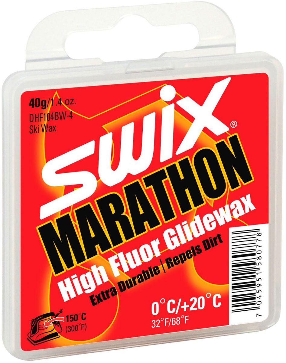 Мазь скольжения Swix DHF104BW MARATHON 0C/+20C, 40 гDHF104BW-4DHF104BW MARATHON - Мазь с высоким содержанием фторуглерода и специальной смазочной добавкой BW для температурного диапазона от 0°C до +20°C. Разработана, главным образом, для мокрого загрязненного снега. Твердая консистенция мази обеспечивает высокую устойчивость к загрязнению на мокром снегу. Специальная смазочная добавка BW повышает устойчивость мази к истиранию и способствует уменьшению силы трения между базой лыжи и абразивными частицами грязи. Рекомендованная температура нагрева утюга 150°С