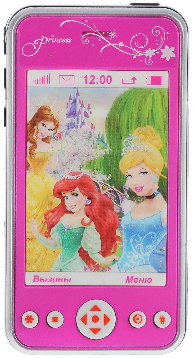 Играем вместе Игрушечный мобильный телефон ПринцессыTT837-PRINМобильный телефон Играем вместе Принцессы имеет красивый дизайн и окрашен в розовый цвет. С виду он очень похож на настоящий аппарат, у него есть большой экран в виде 3D картинки и кнопки управления. На картинке изображены иконки рабочего стола, а кнопки включают звуковые эффекты и веселую песенку принцесс Диснея. Рекомендуется докупить 2 батарейки напряжением 1,5V типа АG13 (товар комплектуется демонстрационными).