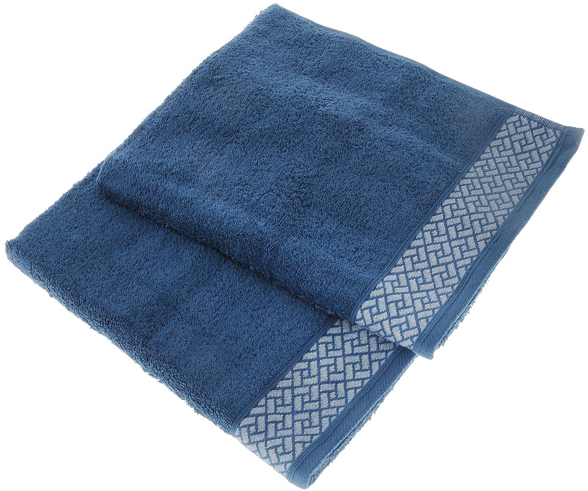 Набор полотенец Tete-a-Tete Лабиринт, цвет: темно-лазурный, 50 х 90 см, 2 штУП-009-04-2Набор Tete-a-Tete Лабиринт состоит из двух махровых полотенец, выполненных из натурального 100% хлопка. Бордюр полотенец декорирован геометрическим рисунком. Изделия мягкие, отлично впитывают влагу, быстро сохнут, сохраняют яркость цвета и не теряют формы даже после многократных стирок. Полотенца Tete-a-Tete Лабиринт очень практичны и неприхотливы в уходе. Они послужат отличным подарком для настоящих мужчин, благодаря строгим насыщенным цветам, а также легко впишутся в любой интерьер. Комплектация: 2 шт.