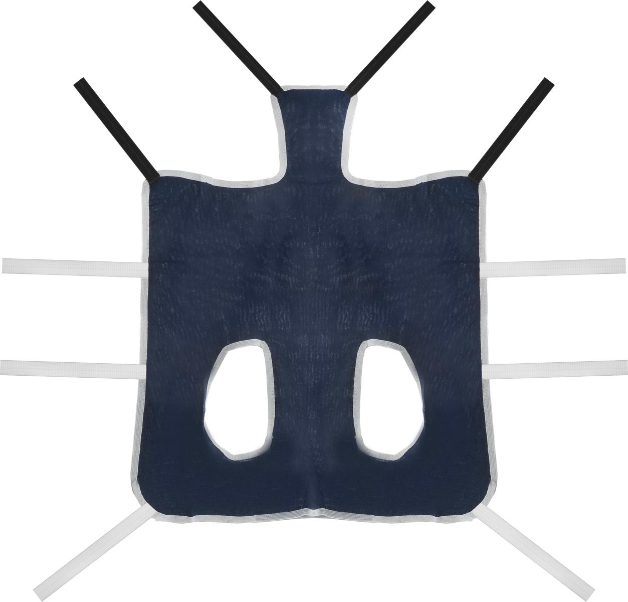 Попона послеоперационная Collar, цвет: темно-синий, белый. Размер 367752Послеоперационная попона для собак Collar выполнена из высококачественного текстиля, благодаря чему хорошо вентилируется. Применяется при перевязке животных. Один слой плотной ткани помогает достичь надежной изоляции раны. Закрепляется при помощи завязок. Обхват груди: 53-80 см. Длина по спинке: 56 см.