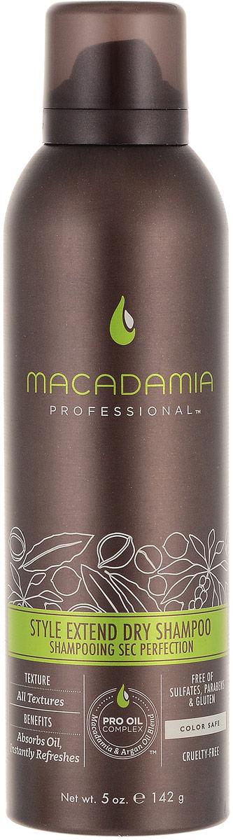 Macadamia Professional Сухой шампунь Продли свой Стиль, 150 мл500108Легкий сухой шампунь Macadamia Professional с экстрактами алое вера, цветов пассифлоры и рисовым крахмалом продлевает срок укладки и созданного образа. Абсорбирует загрязнения и себум, мгновенно освежает волосы. Ваши волосы снова чистые, подвижные и объемные!