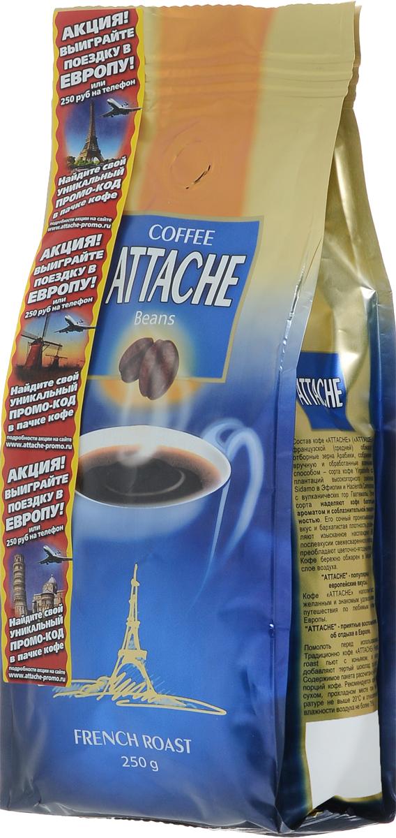 Attache Французская обжарка кофе в зернах, 250 г4600946000636Кофе молотый Attache Французская обжарка средней обжарки приготовлен из редких сортов кофе Арабика Yirgacheffe с плантаций высокогорного района Sidamo в Эфиопии и кофе Hacienda Carmona с вулканических гор Гватемалы. Эти сорта наделяют кофе богатым ароматом и соблазнительной пикантностью. Его сочный пронизывающий вкус и бархатистая плотность доставляют изысканное наслаждение цветочно-ягодными нотками в тягучем напитке.