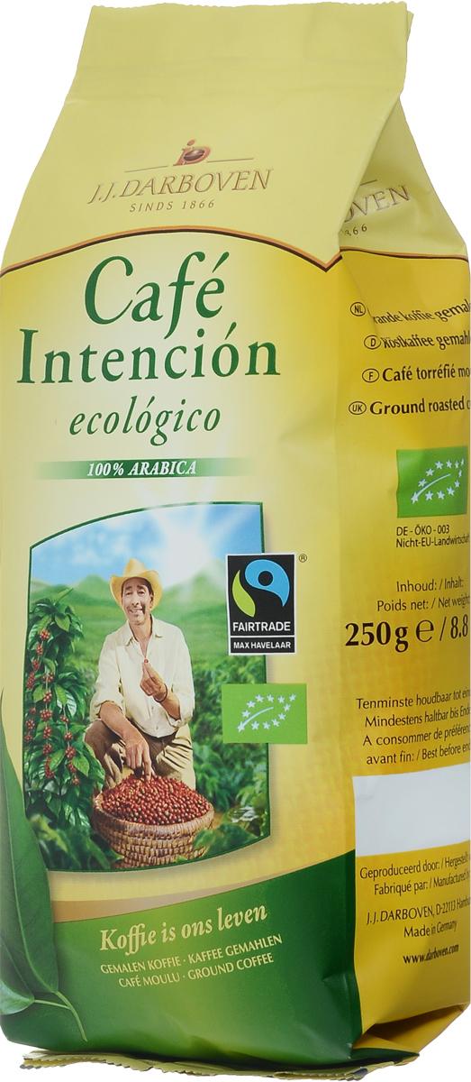 J.J. Darboven Intencion Ecologico кофе молотый, 250 г4006581020655Компания J.J.Darboven работает с кофе Fair trade c 1993 года. Такой кофе закупается напрямую у небольших фермерских хозяйств выращивающих кофе в высокогорных районах. Часть кофе Fair trade поставляется с плантаций сертифицированных как экологически чистых, что подразумевает полный отказ от применения химических удобрений.