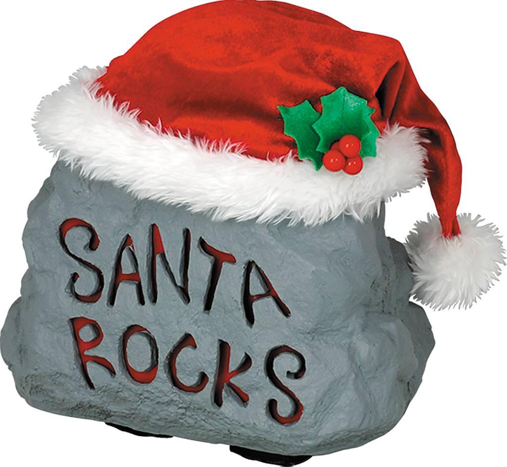 Игрушка новогодняя Mister Christmas Пляшущий камень, электромеханическая, высота 22 см17206Традиция оставлять камни у порога гостеприимного дома пришла к нам из Греции: чем больше камень, тем добрее пожелания гостей. Новогодняя музыкальная игрушка Mister Christmas Пляшущий камень послужит пожеланием большого богатства и непременного благополучия. Внешний вид сувенира весьма незатейлив. Это серый камень, выполненный из полимера, с надписью Santa rocks. На камень надет красный рождественский колпак с тремя ягодками брусники и белой опушкой. При нажатии на колпак камень начинает подпрыгивать в такт песни Элвиса Пресли Lock Around The Clock. Надпись на камне при этом подсвечивается неярким красным светом. Несмотря на столь ритмичные движения, механизм игрушки прослужит очень и очень долго. Все материалы, входящие в состав сувенира, прошли тщательные проверки и отличаются высочайшим качеством. Так же стоит отметить и то, что все материалы экологичны и безопасны. Сувенир упакован в подарочную коробку, что позволяет не беспокоиться...