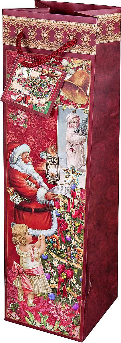 Пакет подарочный для бутылки Mister Christmas, 10 х 10 х 35 смBR-BB-22Подарочный пакет для бутылки Mister Christmas, изготовленный из плотной бумаги, станет незаменимым дополнением к выбранному подарку. Дно изделия укреплено картоном, который позволяет сохранить форму пакета и исключает возможность деформации дна под тяжестью подарка. Для удобной переноски имеются две текстильные ручки в виде шнурков. Подарок, преподнесенный в оригинальной упаковке, всегда будет самым эффектным и запоминающимся. Окружите близких людей вниманием и заботой, вручив презент в нарядном, праздничном оформлении.