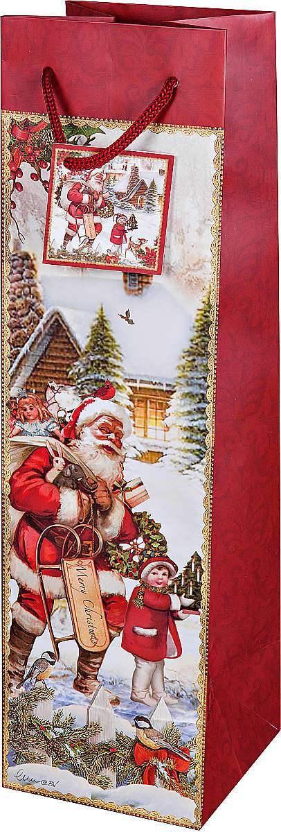 Пакет подарочный для бутылки Mister Christmas Дед Мороз, 10 х 10 х 35 смBR-BB-25Подарочный пакет для бутылки Mister Christmas Дед Мороз, изготовленный из плотной бумаги, станет незаменимым дополнением к выбранному подарку. Дно изделия укреплено картоном, который позволяет сохранить форму пакета и исключает возможность деформации дна под тяжестью подарка. Для удобной переноски имеются две текстильные ручки в виде шнурков. Подарок, преподнесенный в оригинальной упаковке, всегда будет самым эффектным и запоминающимся. Окружите близких людей вниманием и заботой, вручив презент в нарядном, праздничном оформлении.