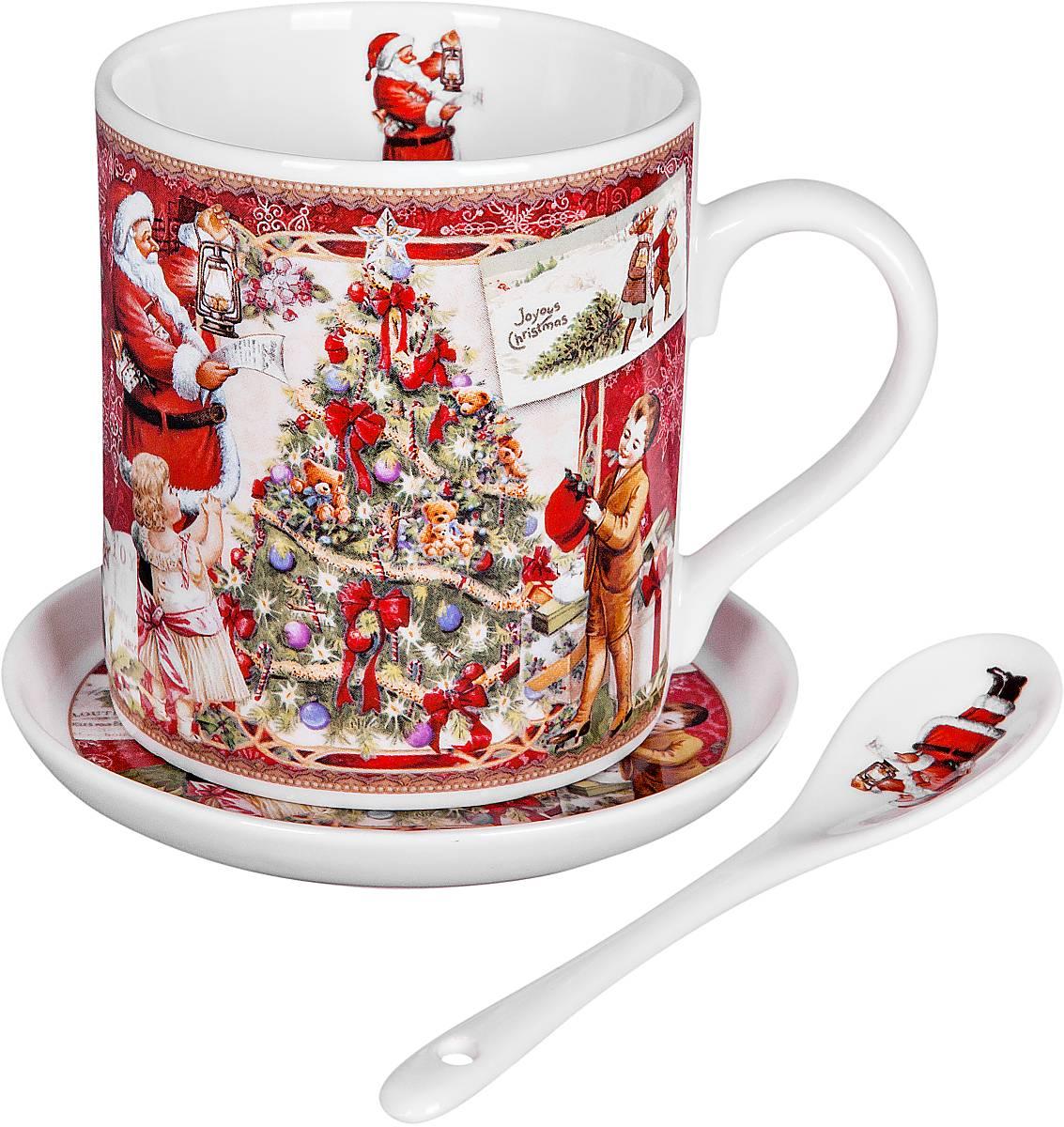 Кружка Mister Christmas Дед Мороз, дети и елка, с ложкой, с подставкой, 3 предметаBR-M11-SETНовогодняя кружка Mister Christmas Дед Мороз, дети и елка изготовлена из высококачественного фарфора. В комплект входят ложка и подставка. Такие оригинальные предметы великолепно украсят кухонный интерьер, а также станут отличным подарком для ваших друзей и близких в преддверии Нового года. Предметы упакованы в красивую подарочную коробку. Высота кружки: 8 см.
