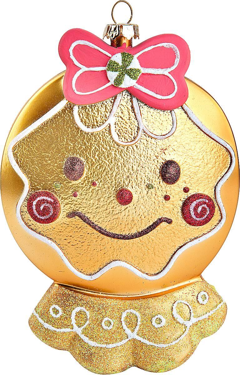 Украшение новогоднее подвесное Mister Christmas Печенька, высота 16 смCD-01Подвесное украшение Mister Christmas Печенька напоминает настоящее произведение кулинарного искусства. Так и хочется откусить небольшой кусочек - настолько аппетитно выглядит игрушка! Изделие выполнено из пластика и декорировано интересными узорами, объемными деталями и блестками. Для удобного размещения на елке предусмотрена петелька. Украшение с веселой мордочкой станет оригинальным элементом декора вашей елки!
