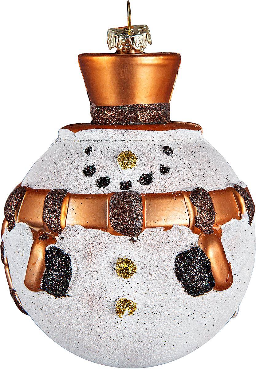 Украшение новогоднее подвесное Mister Christmas Снеговик, цвет: белый, бронзовый, высота 12 смCD-21Новогоднее подвесное украшение Mister Christmas Снеговик прекрасно подойдет для праздничного декора новогодней ели. Украшение выполнено из пластика. Для удобного размещения на елке предусмотрена петелька. Елочная игрушка - символ Нового года. Она несет в себе волшебство и красоту праздника. Создайте в своем доме атмосферу веселья и радости, украшая новогоднюю елку нарядными игрушками, которые будут из года в год накапливать теплоту воспоминаний.