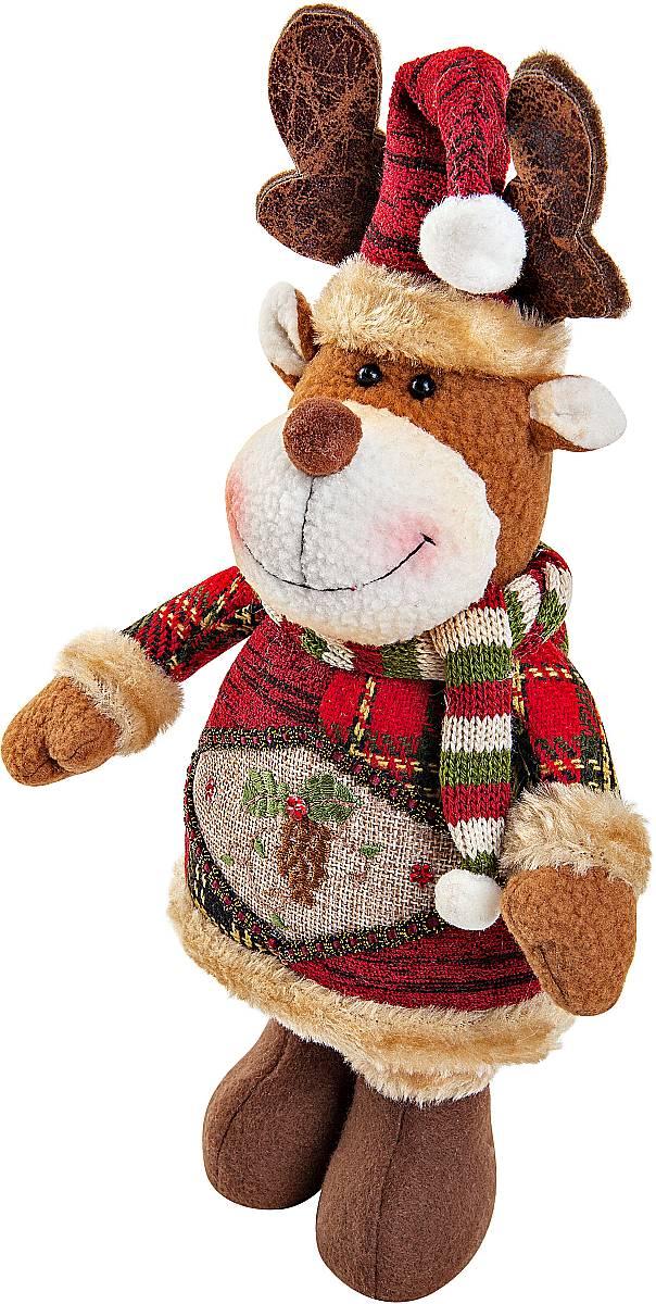 Игрушка новогодняя мягкая Mister Christmas Олень, высота 28 смCHL-500DRМягкая новогодняя игрушка Mister Christmas Олень, изготовленная из текстиля, прекрасно подойдет для праздничного декора дома. Изделие можно разместить в любом понравившемся вам месте. Новогодняя игрушка несет в себе волшебство и красоту праздника. Создайте в своем доме атмосферу веселья и радости, украшая дом красивыми игрушками, которые будут из года в год накапливать теплоту воспоминаний. Высота игрушки: 28 см.