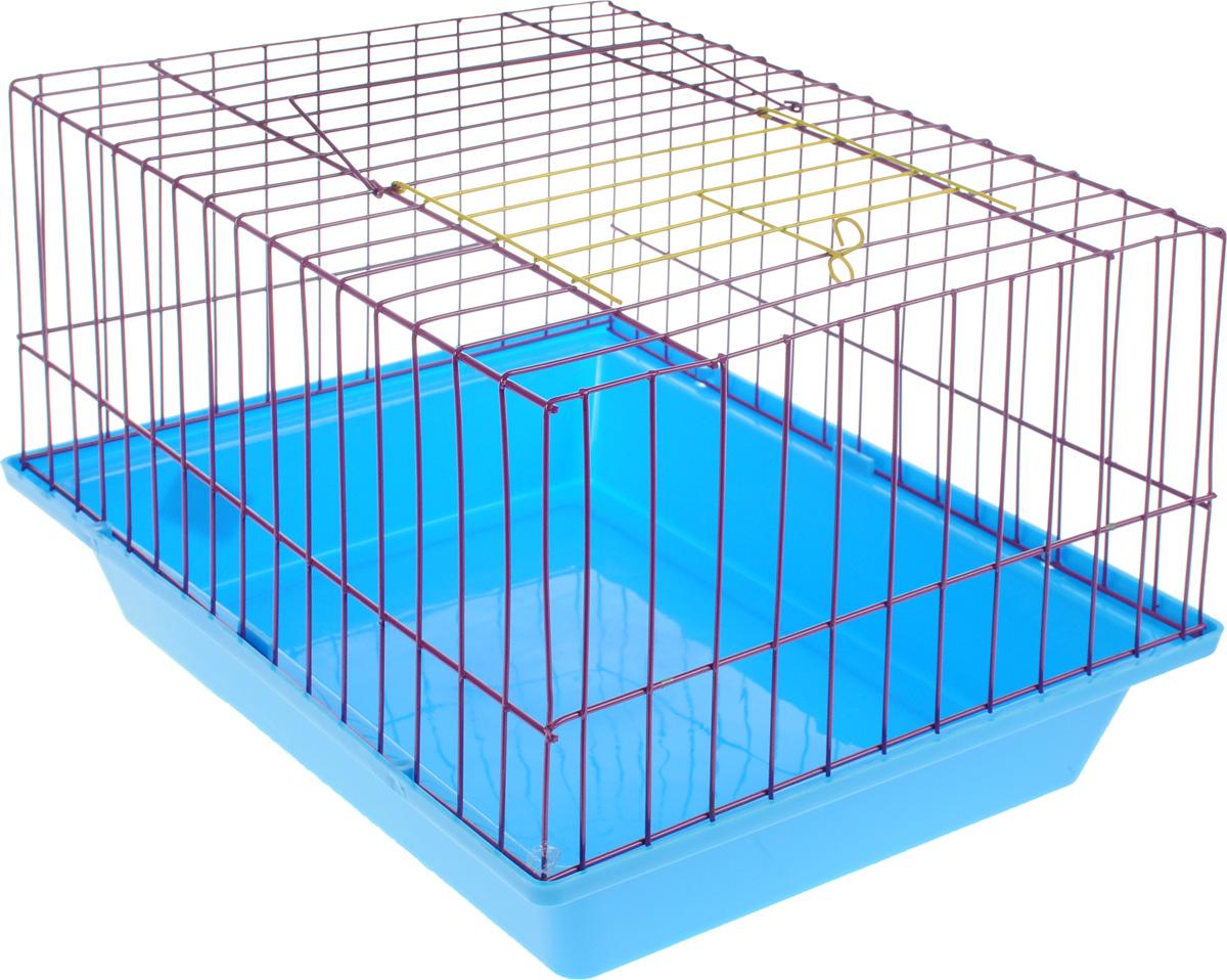 Клетка для морской свинки ЗооМарк, цвет: синий поддон, фиолетовая решетка, 41 х 30 х 25 см(210)СФКлетка ЗооМарк, выполненная из полипропилена и металла, подходит для морских свинок и других грызунов. Клетка имеет яркий поддон, удобна в использовании и легко чистится. Сверху имеется ручка для переноски. Такая клетка станет личным пространством и уютным домиком для вашего питомца.