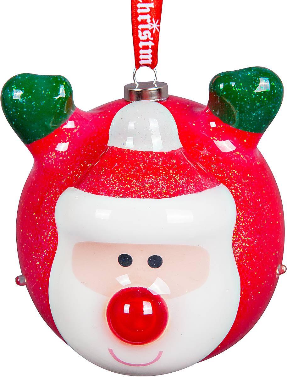 Украшение новогоднее подвесное Mister Christmas Папье-маше, с подсветкой, диаметр 8 смPMD-1Подвесное украшение Mister Christmas Папье-маше выполнено в старинной технике папье-маше. Это искусство изготовления новогодних игрушек насчитывает уже немало веков и очень популярно во всем мире. Такой шар отличается прочностью и не боится случайных падений на пол, а также можно спокойно доверить в руки ребенку и не переживать об осколках. Изделие оснащено подсветкой в виде мерцающих огоньков и специальной металлической петелькой, в которую можно продеть нитку или ленту для подвешивания. Елочная игрушка - символ Нового года. Она несет в себе волшебство и красоту праздника. Создайте в своем доме атмосферу веселья и радости, украшая всей семьей новогоднюю елку нарядными игрушками, которые будут из года в год накапливать теплоту воспоминаний.