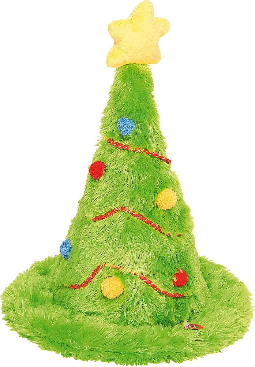 Игрушка новогодняя Mister Christmas Елка, электромеханическая, высота 42 смSL-HATНовогодняя электромеханическая игрушка Mister Christmas Елка послужит оригинальным подарком в преддверии Нового года. Игрушка-шапка, выполненная из искусственного меха, внешне очень напоминает новогоднюю елку: приятный зеленый цвет, новогодние гирлянды, разноцветные шарики и желтая звезда на макушке создают всем знакомый образ. С легкого нажатия на кнопку волшебная игрушка начинает исполнять зажигательный рок-н-ролл и махать макушкой в такт звучащей музыке. Такое блистательное выступление не оставит вокруг себя равнодушных. Изделие работает от батареек (входят в комплект). Собираясь на празднование Нового года, прихватите с собой новогоднюю музыкальную игрушку Mister Christmas Елка, ведь это подарок, который говорит сам за себя! Высота игрушки: 42 см. Диаметр игрушка: 30 см.