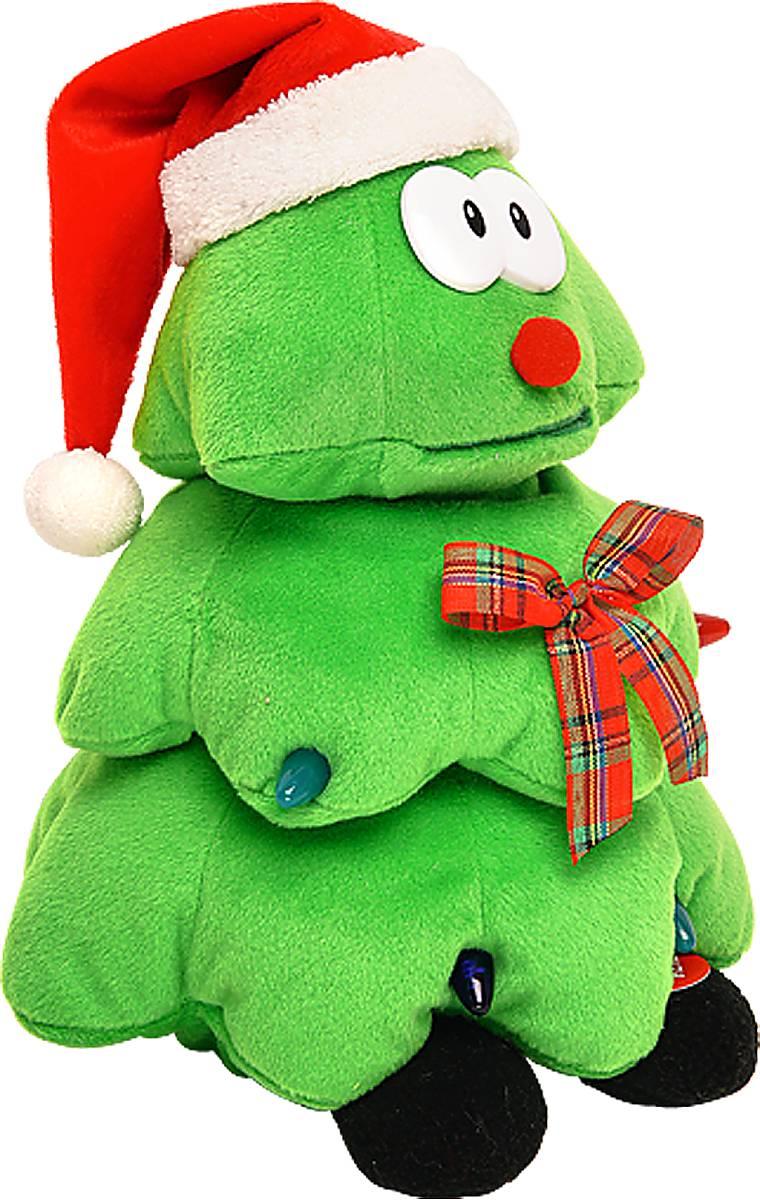 Игрушка новогодняя Mister Christmas Елка, электромеханическая, высота 28 смSL-TREEПрекрасным подарком, который способен порадовать как детей, так и взрослых, станет мягкая игрушка Mister Christmas Елка. Она выполнена из плюша и набита синтепоном и украшена светодиодными лампами, имитирующими гирлянду. Эта елка не просто новогоднее деревце, это настоящая мягкая игрушка с забавной мордочкой, одетая в колпак Санты Клауса и ботиночки. Дополнительным декоративным элементом выступает элегантная лента шотландка. Мягкая игрушка Mister Christmas Елка исполняет заводную песенку и совершает танцевальные движения. Работает от батареек (входят в комплект). Материалы, входящие в состав сувенира отвечают самым высочайшим требованиям. Наслаждаться мелодией и танцем можно до бесконечности - игрушка оснащена надежнейшим механизмом, который прослужит ни один день, необходимо лишь вовремя заменять батарейку. Спешите порадовать себя и своих близких ярким и оригинальным подарком. Высота игрушки: 28 см.