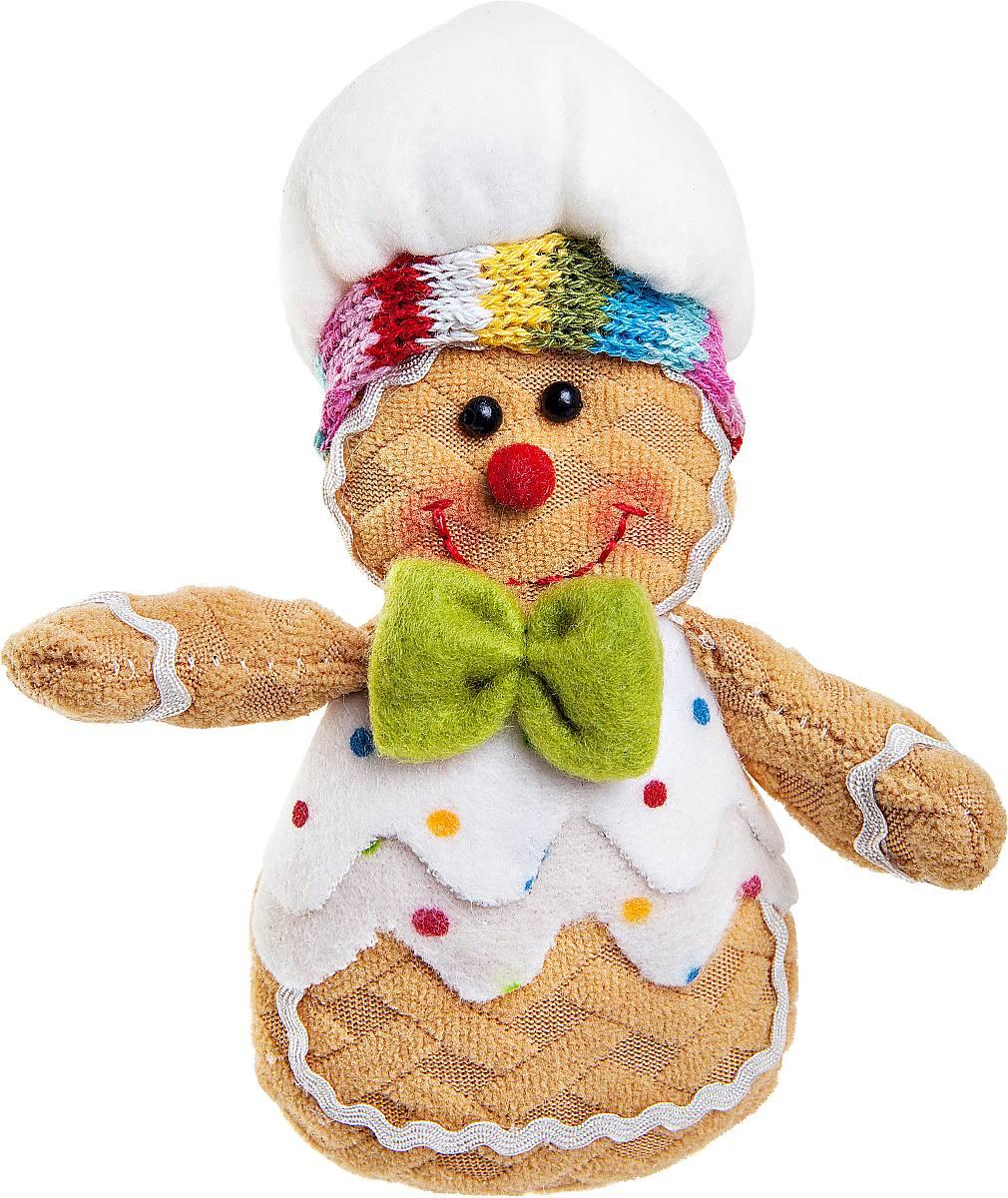 Игрушка новогодняя мягкая Mister Christmas Пряничный мальчик, высота 13 смSPP-11-MМягкая новогодняя игрушка Mister Christmas Пряничный мальчик, изготовленная из текстиля, прекрасно подойдет для праздничного декора дома. Изделие можно разместить в любом понравившемся вам месте. Новогодняя игрушка несет в себе волшебство и красоту праздника. Создайте в своем доме атмосферу веселья и радости, украшая дом красивыми игрушками, которые будут из года в год накапливать теплоту воспоминаний. Высота игрушки: 13 см.