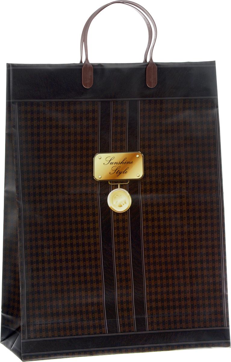 Пакет подарочный Bello, цвет: темно-коричневый, коричневый, золотой, 32 х 10 х 42 см. BAL 101BAL 101Подарочный пакет Bello, изготовленный из пищевого полипропилена, станет незаменимым дополнением к выбранному подарку. Дно изделия укреплено плотным картоном, который позволяет сохранить форму пакета и исключает возможность деформации дна под тяжестью подарка. Для удобной переноски на пакете имеются две пластиковые ручки. Подарок, преподнесенный в оригинальной упаковке, всегда будет самым эффектным и запоминающимся. Окружите близких людей вниманием и заботой, вручив презент в нарядном, праздничном оформлении. Грузоподъемность: 12 кг. Морозостойкость: до -30°С.