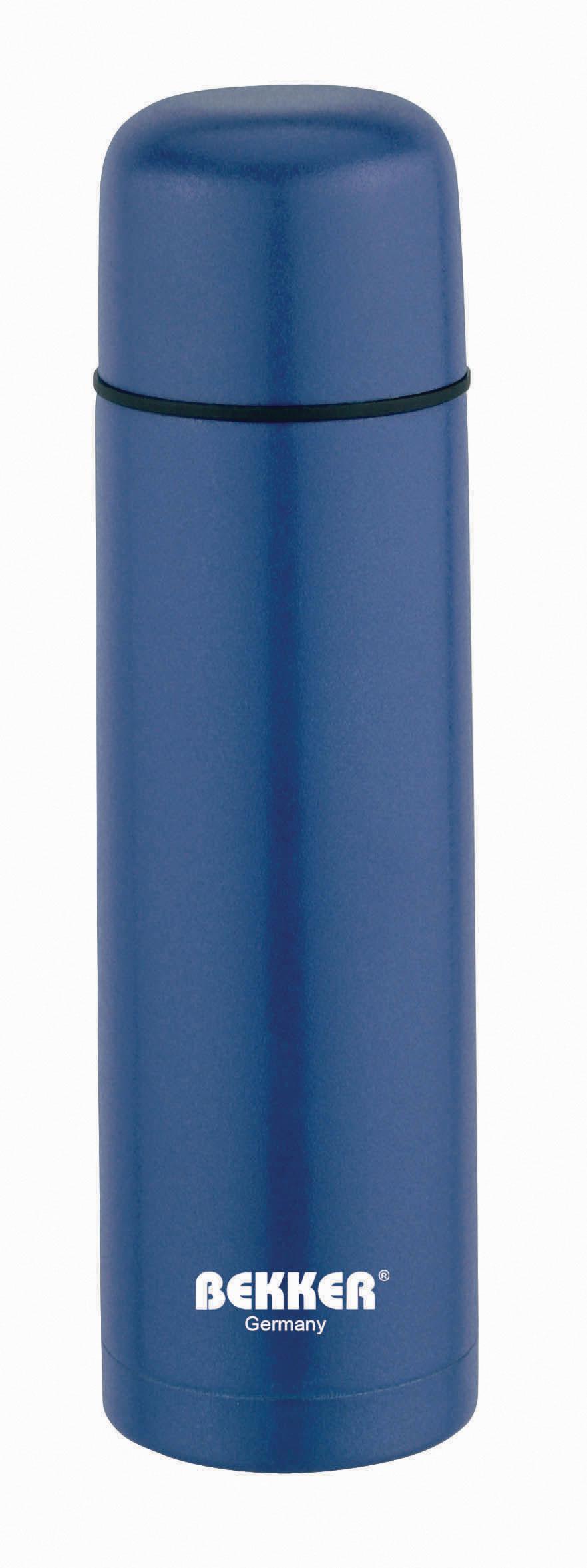 Термос Bekker, 1 л. BK-4038 (30)BK-4038 (30)Термос для горячих и холодных напитков 1л, двойные стенки, вакуумная кнопка, цветное покрытие корпуса. Чехол в комплекте. Состав: нержавеющая сталь 18/8