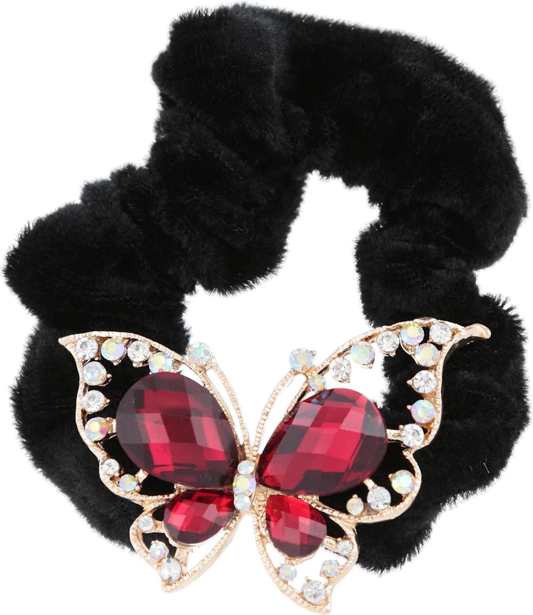 Резинка для волос от D.Mari. Велюр, кристаллы Aurora Borealis, кристаллы рубинового цвета, бижутерный сплав золотого тона. ГонконгFH33178Резинка для волос от D.Mari. Велюр, кристаллы Aurora Borealis, кристаллы рубинового цвета, бижутерный сплав золотого тона. Гонконг. Размер - резинка эластичная, подойдет на любой размер.