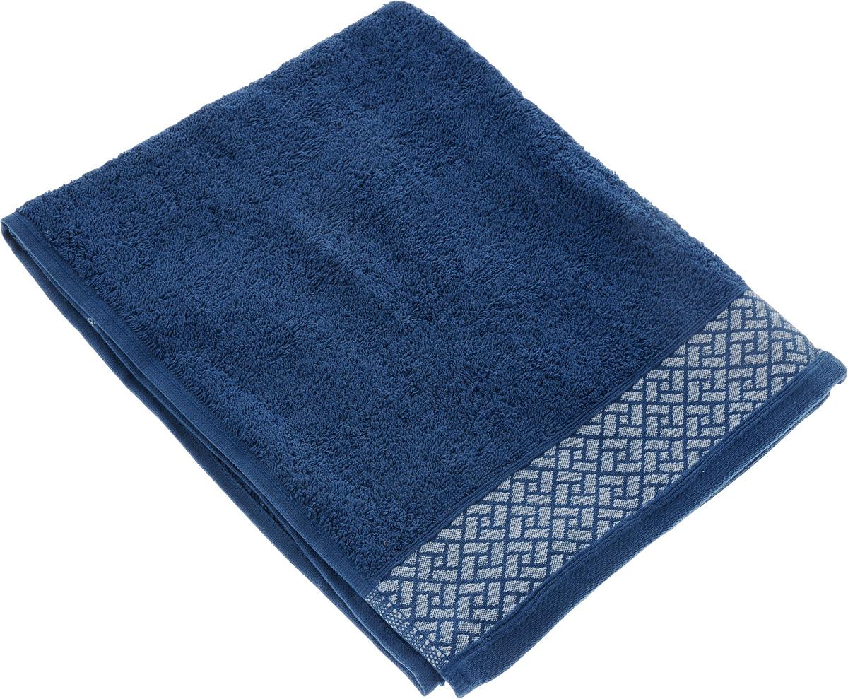 Полотенце Tete-a-Tete Лабиринт, цвет: синий, 50 х 90 см. УП-009УП-009-04Полотенце Tete-a-Tete Лабиринт выполнено из 100% хлопка. Изделие отлично впитывает влагу, быстро сохнет, сохраняет яркость цвета и не теряет форму даже после многократных стирок. Такое полотенце очень практично и неприхотливо в уходе. Оно создаст прекрасное настроение и украсит интерьер в ванной комнате.