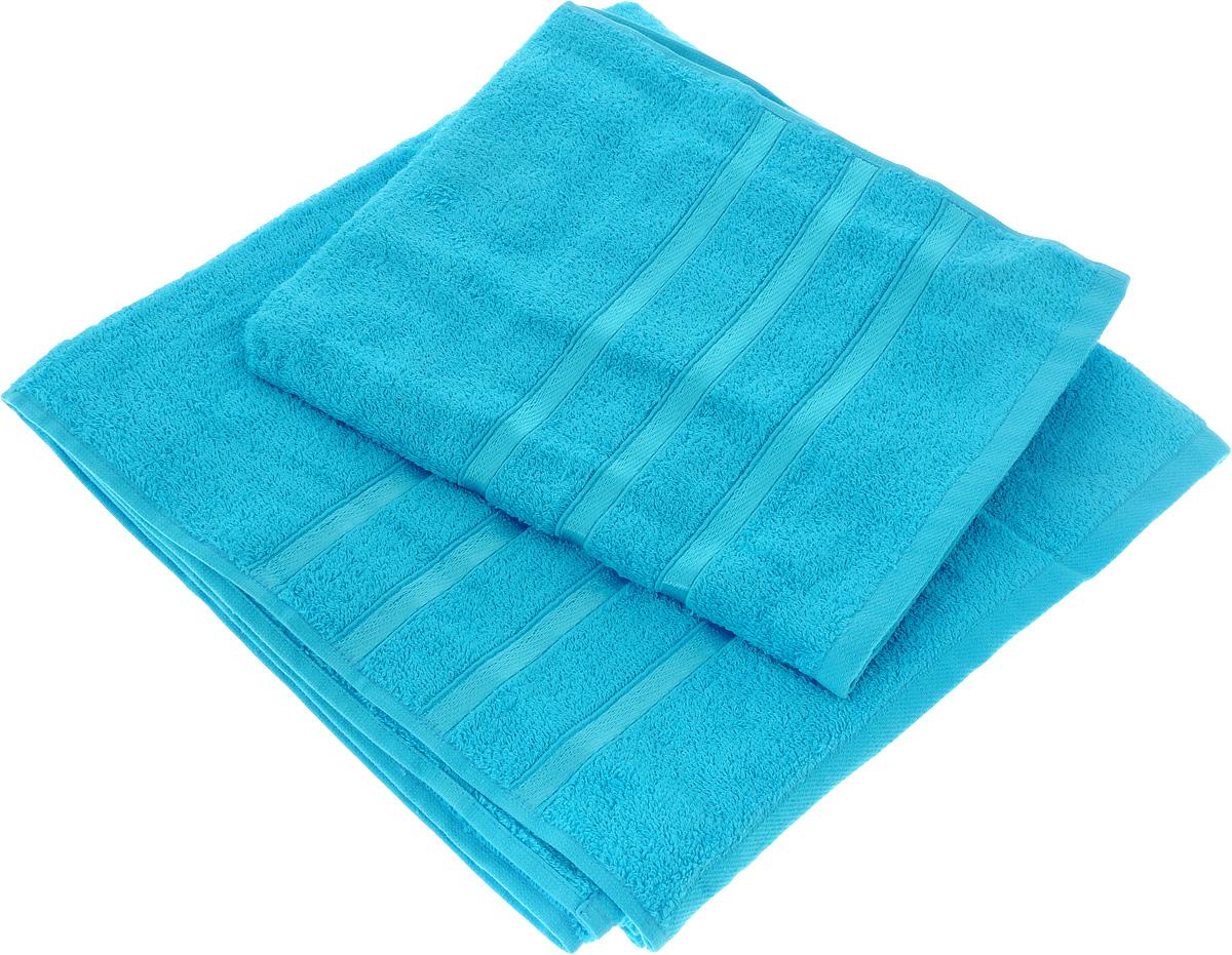 Набор полотенец Tete-a-Tete Ленты, цвет: бирюза, 2 шт. УНП-101УНП-101-01Набор Tete-a-Tete Ленты состоит из двух махровых полотенец, выполненных из натурального 100% хлопка. Бордюр полотенец декорирован лентами. Изделия мягкие, отлично впитывают влагу, быстро сохнут, сохраняют яркость цвета и не теряют форму даже после многократных стирок. Полотенца Tete-a-Tete Ленты очень практичны и неприхотливы в уходе. Они легко впишутся в любой интерьер благодаря своей нежной цветовой гамме. Размеры полотенец: 70 х 135 см, 50 х 85 см.