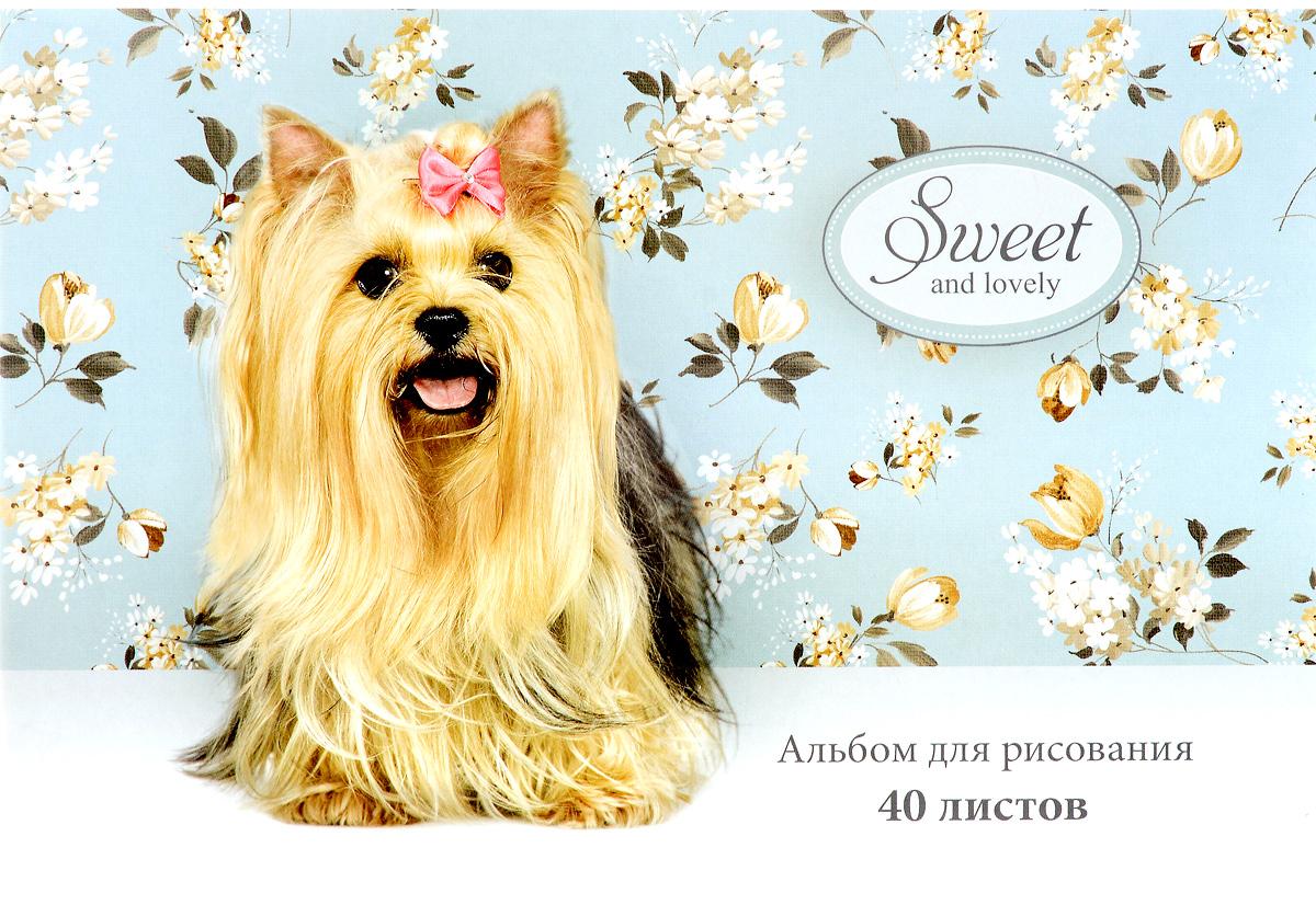 ArtSpace Альбом для рисования Sweet Pets 40 листовА40_2687Альбом для рисования ArtSpace Sweet Pets будет вдохновлять вашего ребенка на творческий процесс. Альбом изготовлен из белоснежной бумаги с яркой обложкой из плотного картона, оформленной изображением симпатичного щеночка. Внутренний блок альбома состоит из 40 листов, соединенных скрепками. Высокое качество бумаги позволяет рисовать в альбоме различными типами красок, фломастерами, цветными и чернографитными карандашами, гелевыми ручками. Занимаясь изобразительным творчеством, ребенок тренирует мелкую моторику рук, становится более усидчивым и спокойным.