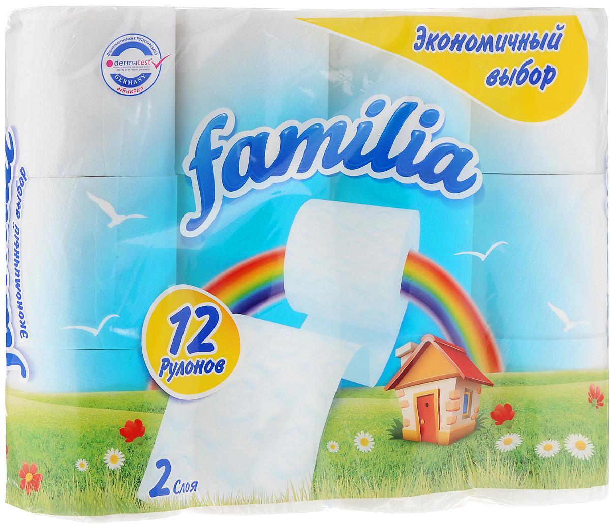 Бумага туалетная Familia Радуга, двухслойная, 12 рулонов8264Двухслойная туалетная бумага Familia Радуга изготовлена из вторичного сырья (переработанной бумаги) и целлюлозы. Мягкая, нежная, но в тоже время прочная, бумага не расслаивается и отрывается строго по линии перфорации. Количество рулонов: 12 шт. Длина одного рулона: 16,9 м.