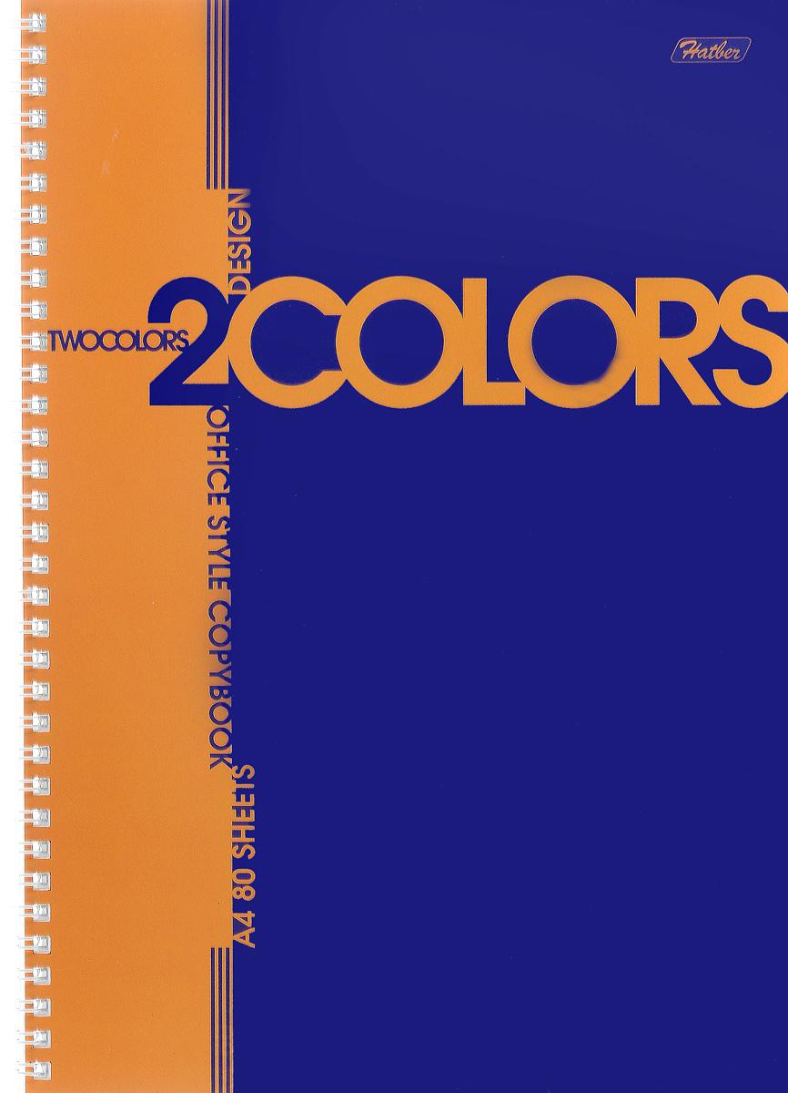 Hatber Тетрадь 2Colors 80 листов в клетку цвет оранжевый синий80Т4В1гр_оранжево-синийТетрадь Hatber 2Colors подойдет для школьников и студентов. Двухцветная обложка, выполненная из плотного картона, позволит сохранить тетрадь в аккуратном состоянии на протяжении всего времени использования. Внутренний блок тетради, соединенный посредством гребня, состоит из 80 листов белой бумаги. Стандартная линовка в голубую клетку. Особой изюминкой является наличие перфорации и отверстий для колец, что позволяет подшивать листы в папки.