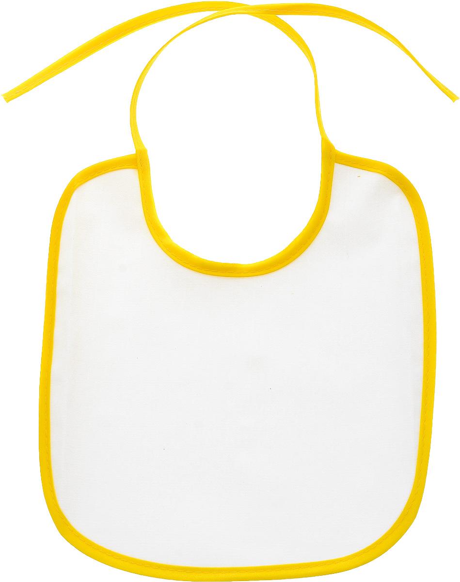 Колорит Нагрудник защитный 20 см х 22 см цвет белый желтый