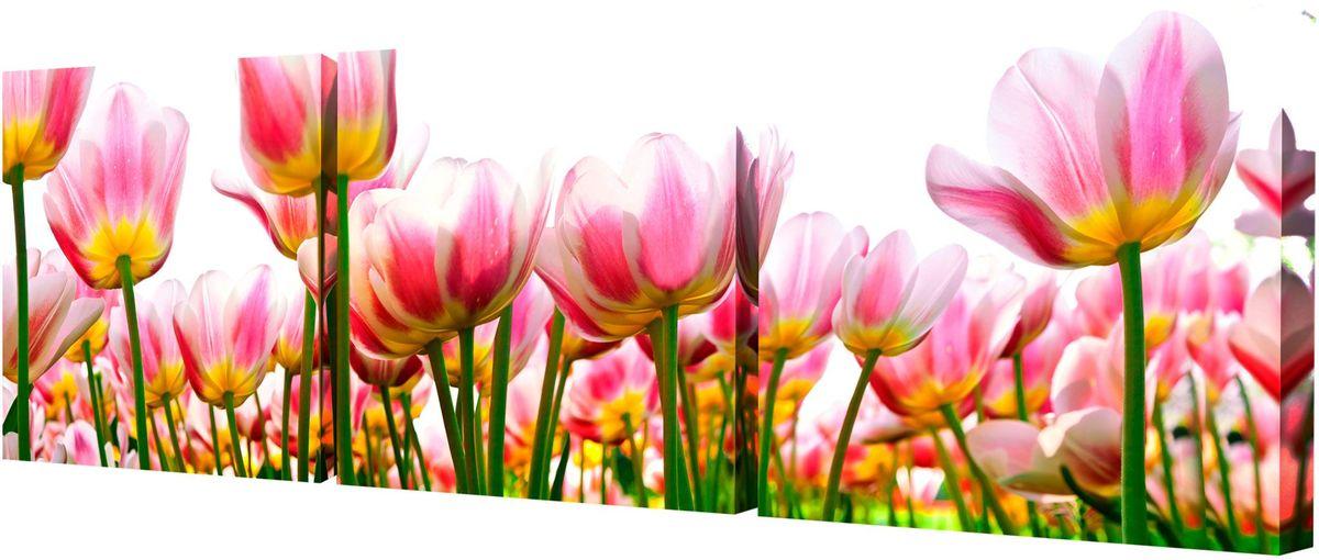 Картина модульная Toplight Цветы, 150 х 50 см. TL-M2006TL-M2006Модульная картина Toplight Цветы выполнена из синтетического полотна, подрамник из МДФ. Картина состоит из трех частей и выглядит очень аккуратно и эстетично благодаря такому способу оформления как галерейная натяжка. Подрамник исключает провисание полотна. Современные технологии, уникальное оборудование и цифровая печать, используемые в производстве, делают постер устойчивым к выцветанию и обеспечивают исключительное качество произведений. Благодаря наличию необходимых креплений в комплекте установка не займет много времени. Модульная картина - это прекрасная возможность создать яркий акцент при оформлении любого помещения. Изделие обязательно привлечет внимание и подарит немало приятных впечатлений своим обладателям. Правила ухода: можно протирать сухой, мягкой тканью. Рекомендованное расстояние между сегментами: 2 см. Толщина подрамника: 3 см.