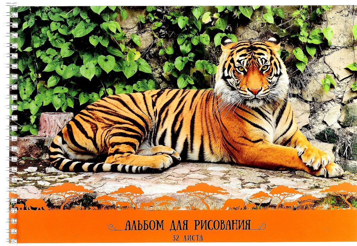 ArtSpace Альбом для рисования Тигры 32 листаА32спТС_9163Альбом для рисования ArtSpace Тигры непременно порадует маленького художника и вдохновит его на творчество. Обложка из плотного картона оформлена изображением полосатого тигра. Высокое качество бумаги позволяет карандашам, фломастерам и краскам ровно ложиться на поверхность и не растекаться по листу. Способ крепления - металлический гребень. В альбоме 32 листа. Во время рисования совершенствуется ассоциативное, аналитическое и творческое мышления. Занимаясь изобразительным творчеством, ребенок тренирует мелкую моторику рук, становится более усидчивым и спокойным и, конечно, приобщается к общечеловеческой культуре.