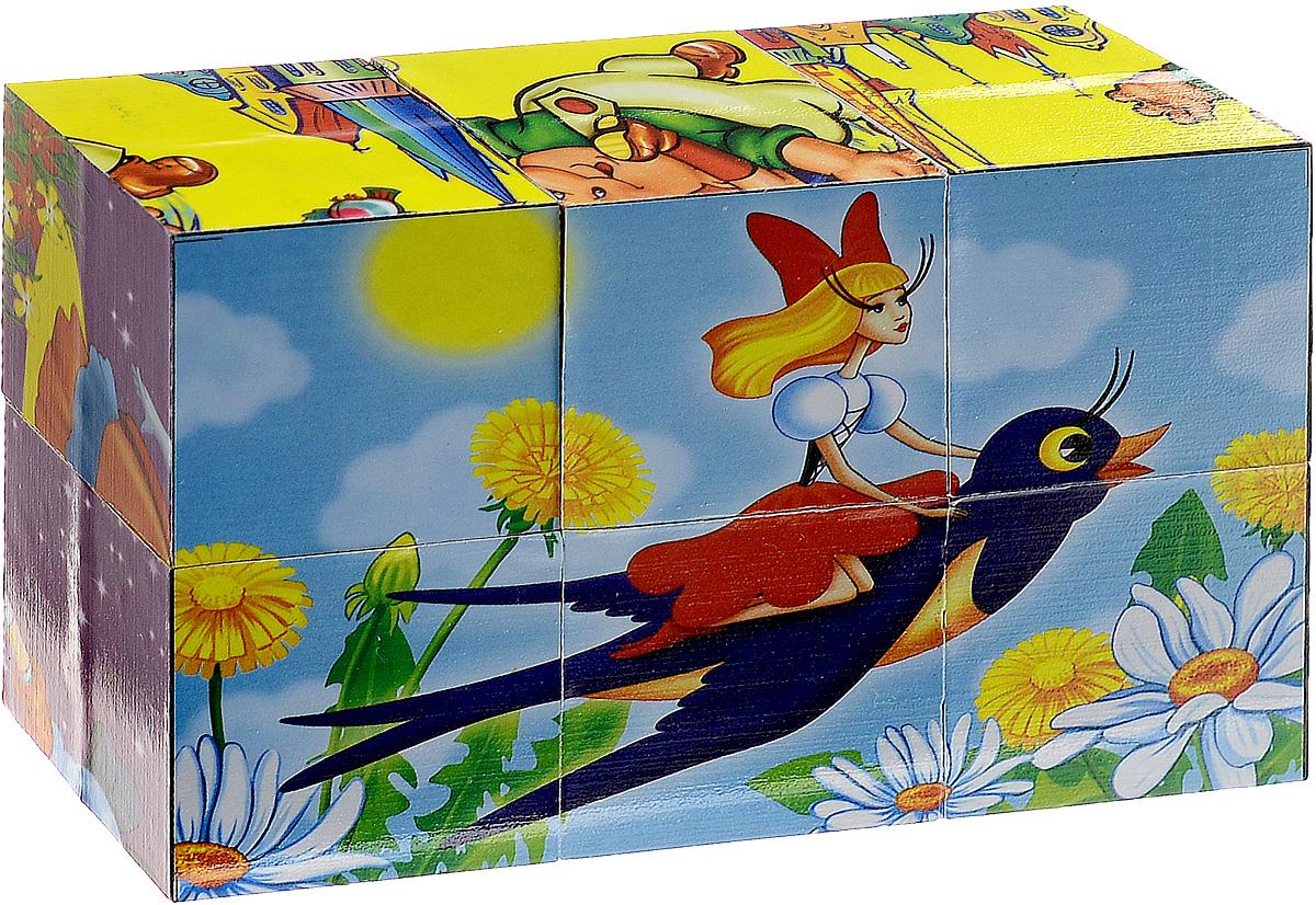 Играем вместе Набор кубиков Сказки 6 шт01306С набором кубиков Играем вместе Сказки ваш малыш будет часами занят игрой. Кубики изготовлены из высококачественного безопасного пластика. Собранные стороны кубиков образуют 6 красочных картинок с изображениями героев популярных мультфильмов: Чиполино, Дюймовочки, Карлсона, Красной Шапочки, Золушки и Буратино. Эти кубики могут послужить прекрасным помощником для родителей в знакомстве ребенка с разнообразными героями известных детских сказок. Крохе необходимо подобрать правильное расположение каждого элемента и в итоге он получит красочную картинку с изображением персонажа сказки. Такое интересное и увлекательное занятие не только надолго займет детское время, но и поможет развить такие важные навыки как: зрительная память, усидчивость и воображение. Набор содержит 6 кубиков.