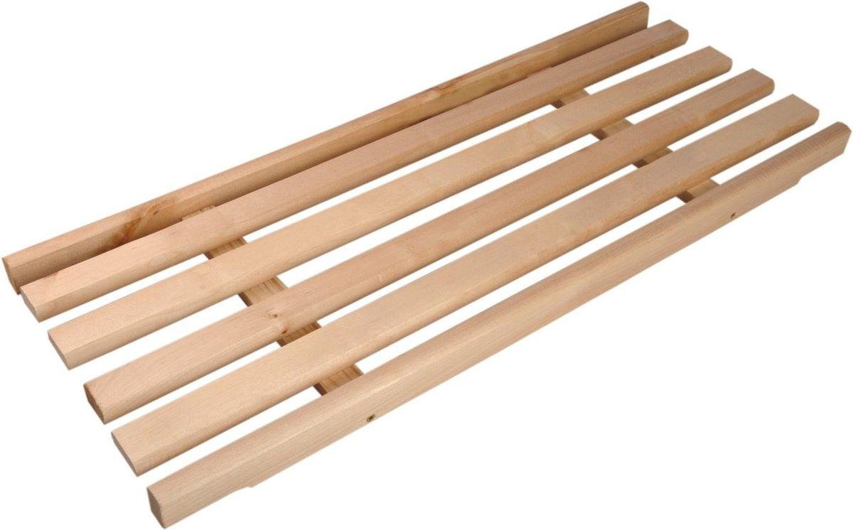 Решетка на ванну деревянная, 27 см х 70 см х 3 см904460Деревянная решетка позволит принять ванну в более комфортных условиях. Решетка универсальна: можно положить ее на края или на дно ванны. Выполненная из натуральных берёзовых брусков, решетка будет также оказывать полезный массажный эффект. Характеристики: Материал: берёза. Размер решётки: 27 см х 70 см х 3 см. Расстояние между брусками: 2 см. Размер упаковки: 27 см х 70 см х 3 см. Производитель: Россия. Артикул: 904460.