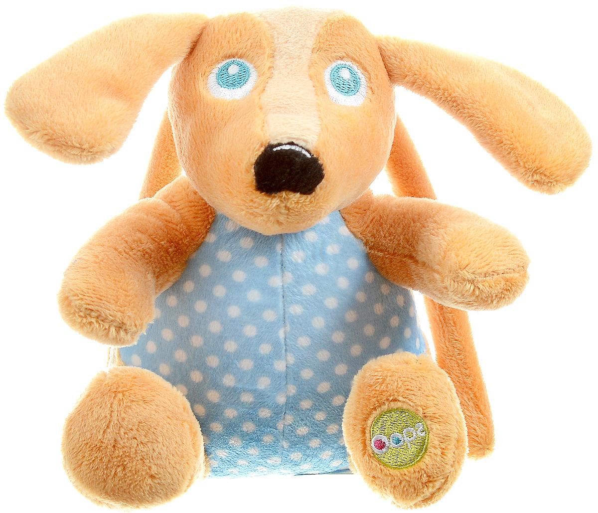 Oops Музыкальная игрушка-подвеска Собака цвет оранжевыйO 12002.00_оранжевая собакаМузыкальная игрушка-подвеска Oops Собака изготовлена из мягкого и приятного на ощупь текстиля ярких приятных тонов в виде прекрасной и милой собачки. Если вы потяните за пластиковое кольцо вниз, малыш услышит негромкую успокаивающую мелодию, которая заменит наскучившие колыбельные и поможет ему заснуть. Подвеска выполнена из гипоаллергенного волокна. Крепиться к кровати с помощью специальных веревочек. Игрушка-подвеска Oops Собака развивает слух, моторику, зрительно-цветовое восприятие и обладает релаксирующим воздействием.