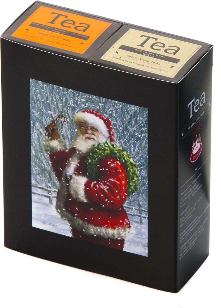 Подарочный набор Royal T-Stick: Orange Tea черный чай и High Tea черный чай в стиках, 30 шт1612103Подарочный набор из 2- пачек чая премиум класса,упакован в коробку для транспортировки. Натуральный черный чай с ароматом апельсина порадует вас золотисто-медовым цветом, тонким ароматом персика и изысканным пряным вкусом , который создается путем смешивания реальных кусочков апельсина и индийского чая из штата Ассам. Чай Ассам порадует вас насыщенным ,янтарно -красным цветом, терпким ароматом и пряным, солодово-медовым вкусом . Чай упакован в пищевую фольгу, которую можно использовать вместо ложечки для размешивания сахара. Опустите стик в кипяток, оставьте на 3 минуты, размешайте кусочек сахара. Достаньте стик из стакана, потрясите им о край стакана, так, чтобы стекли последние капли, и положите рядом. Вся влага останется внутри стика.Прекрасный подарок родным и близким,и отличный повод удивить коллег по работе и друзей, внедряя новую, элегантную культуру чаепития!