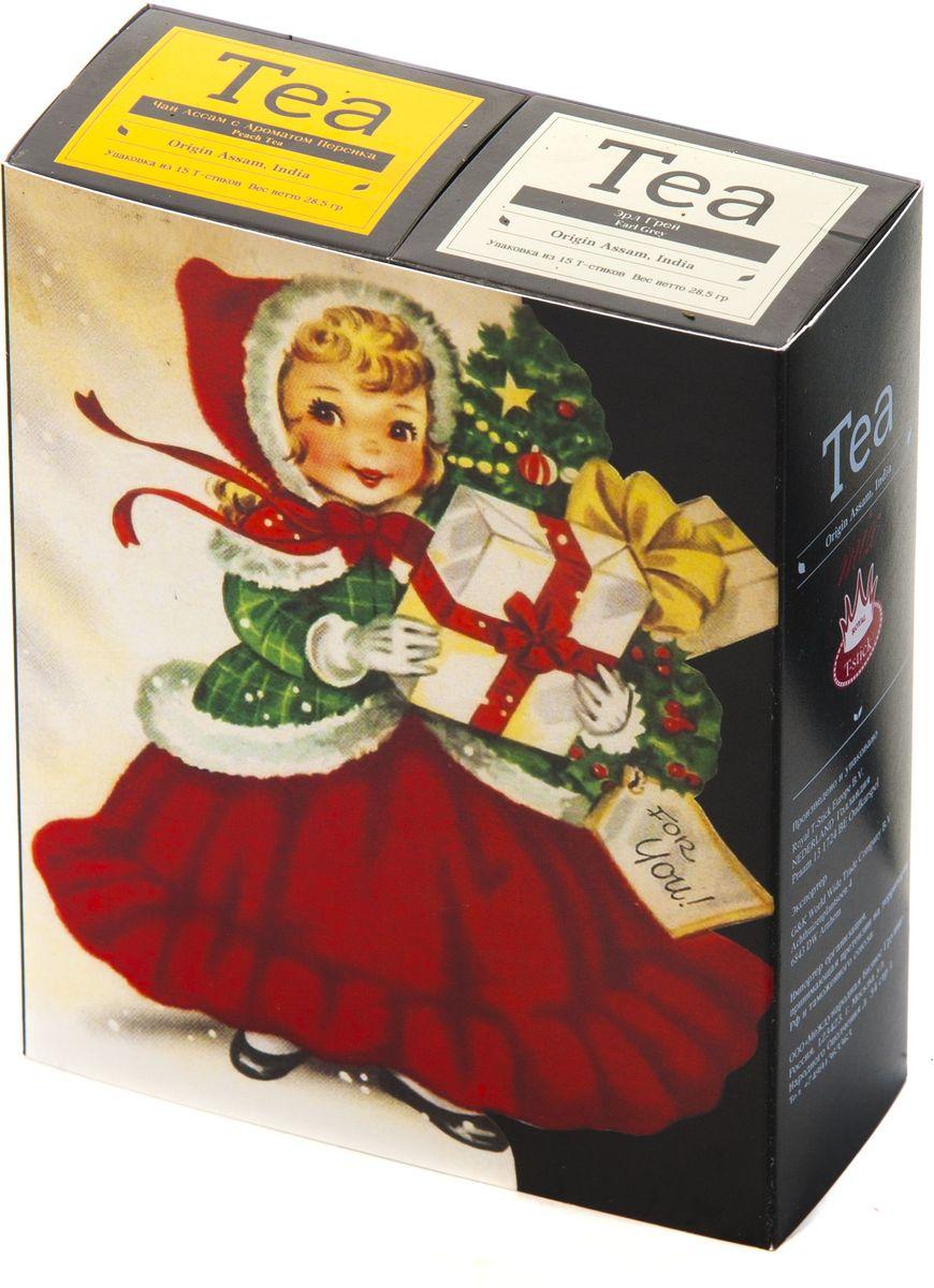 Подарочный набор Royal T-Stick: Earl Grey черный чай и Peach Tea черный чай в стиках, 30 шт1612201Подарочный набор из 2- пачек чая премиум класса,упакован в коробку для транспортировки. Чай Ассам с бергамотом порадует вас насыщенным ,янтарно -красным цветом, терпким ароматом бергамота и пряным, солодово-медовым вкусом . Чай обладает тонизирующим свойством. Натуральный черный чай с ароматом персика порадует вас золотисто-медовым цветом, тонким ароматом персика и изысканным вкусом , который создается путем смешивания реальных кусочков персика и индийского чая из штата Ассам. Чай упакован в пищевую фольгу, которую можно использовать вместо ложечки для размешивания сахара. Опустите стик в кипяток, оставьте на 3 минуты, размешайте кусочек сахара. Достаньте стик из стакана, потрясите им о край стакана, так, чтобы стекли последние капли, и положите рядом. Вся влага останется внутри стика.Прекрасный подарок родным и близким,и отличный повод удивить коллег по работе и друзей, внедряя новую, элегантную культуру чаепития!