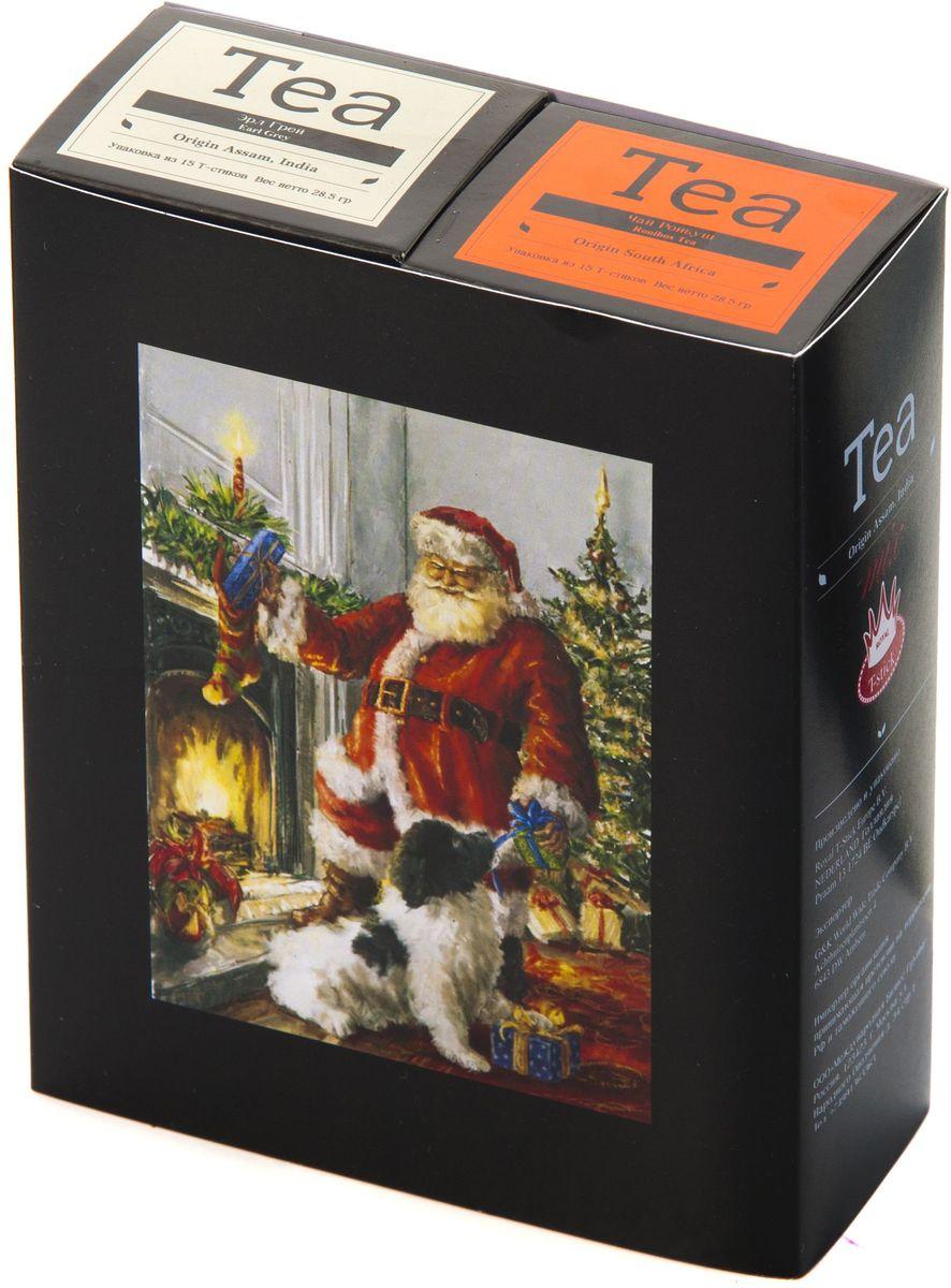 Подарочный набор Royal T-Stick: Earl Grey черный чай и Rooibos Tea красный чай в стиках, 30 шт1612301Подарочный набор из 2- пачек чая премиум класса,упакован в коробку для транспортировки. Чай Ассам с бергамотом порадует вас насыщенным ,янтарно -красным цветом, терпким ароматом бергамота и пряным, солодово-медовым вкусом . Чай обладает тонизирующим свойством. Ройбош натуральный чай из листьев южноафриканского кустарника. Обладает сладковатым вкусом, с едва уловимыми ореховыми нотами. Чай обладает тонизирующим и бодрящим свойством. Снижает аппетит.Рекомендуется людям контролирующим свою массу тела. Чай упакован в пищевую фольгу, которую можно использовать вместо ложечки для размешивания сахара. Опустите стик в кипяток, оставьте на 3 минуты, размешайте кусочек сахара. Достаньте стик из стакана, потрясите им о край стакана, так, чтобы стекли последние капли, и положите рядом. Вся влага останется внутри стика.Прекрасный подарок родным и близким,и отличный повод удивить коллег по работе и друзей, внедряя новую, элегантную культуру чаепития!