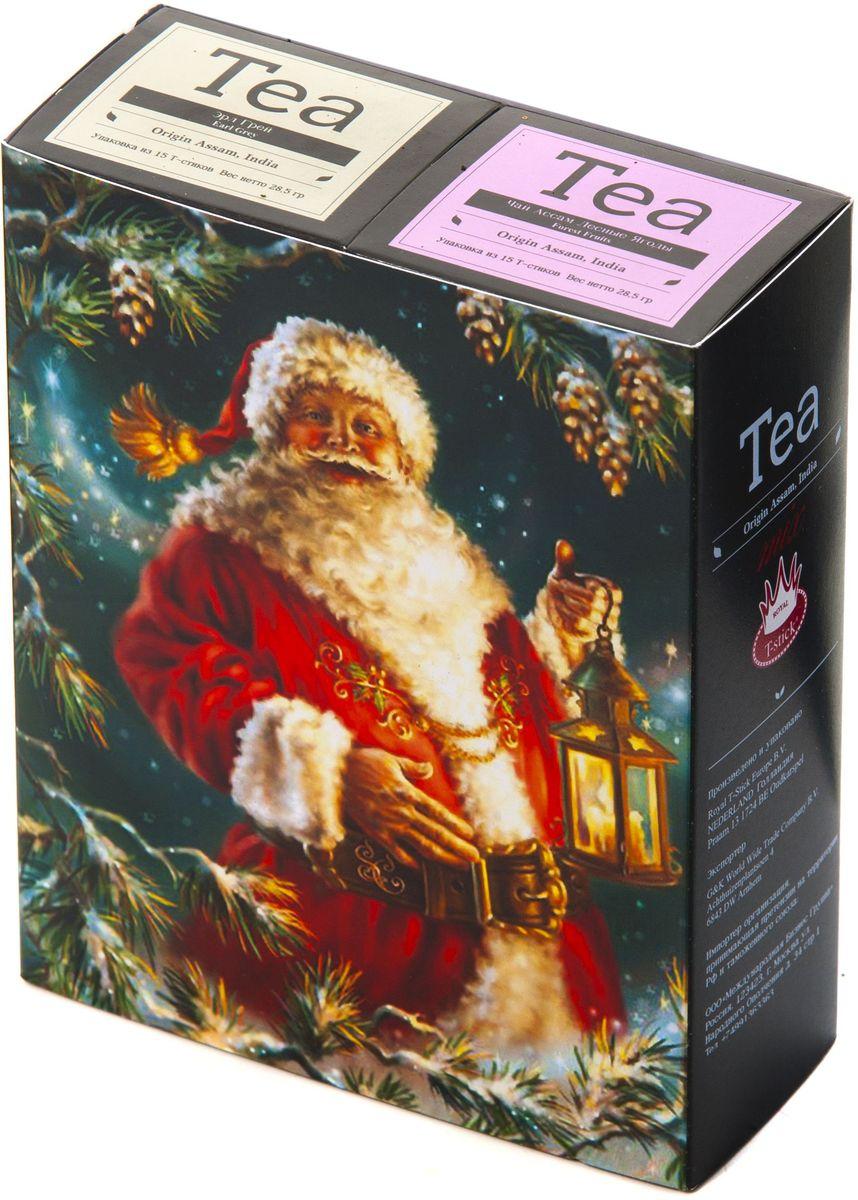 Подарочный набор Royal T-Stick: Earl Grey черный чай и Forest Fruits Tea черный чай в стиках, 30 шт1612401Подарочный набор из 2- пачек чая премиум класса,упакован в коробку для транспортировки. Чай Ассам с бергамотом порадует вас насыщенным ,янтарно -красным цветом, терпким ароматом бергамота и пряным, солодово-медовым вкусом . Чай обладает тонизирующим свойством. Чай Асам с ароматом лесных ягод порадует Вас своим сладким фруктовым вкусом и ароматом лесных ягод и фруктов. Богат антиоксидантами, способствующих нейтрализации токсинов в нашем организме. Чай упакован в пищевую фольгу, которую можно использовать вместо ложечки для размешивания сахара. Опустите стик в кипяток, оставьте на 3 минуты, размешайте кусочек сахара. Достаньте стик из стакана, потрясите им о край стакана, так, чтобы стекли последние капли, и положите рядом. Вся влага останется внутри стика.Прекрасный подарок родным и близким,и отличный повод удивить коллег по работе и друзей, внедряя новую, элегантную культуру чаепития!