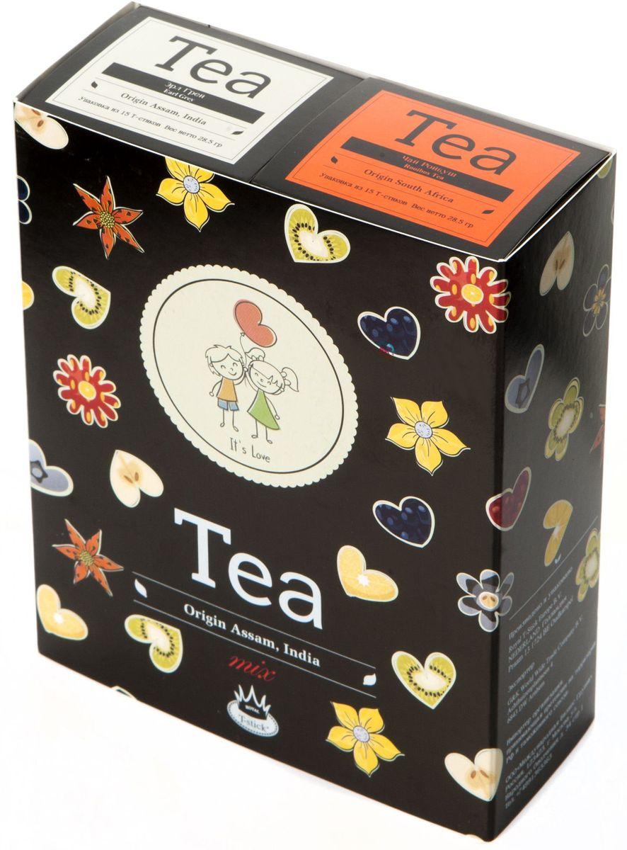 Подарочный набор Royal T-Stick: Earl Grey черный чай и Rooibos Tea красный чай в стиках, 30 шт2104Подарочный набор из 2 пачек чая премиум класса упакован в коробку для транспортировки. Чай Ассам с бергамотом порадует вас насыщенным янтарно- красным цветом, терпким ароматом бергамота и пряным, солодово-медовым вкусом. Чай обладает тонизирующим свойством. Ройбуш - натуральный чай из листьев южноафриканского кустарника. Обладает сладковатым вкусом, с едва уловимыми ореховыми нотами. Чай обладает тонизирующим и бодрящим свойством. Снижает аппетит. Рекомендуется людям, контролирующим свою массу тела. Чай упакован в пищевую фольгу, которую можно использовать вместо ложечки для размешивания сахара. Опустите стик в кипяток, оставьте на 3 минуты, размешайте кусочек сахара. Достаньте стик из стакана, потрясите им о край стакана, так, чтобы стекли последние капли, и положите рядом. Вся влага останется внутри стика. Прекрасный подарок родным и близким и отличный повод удивить коллег по работе и друзей, внедряя новую, элегантную культуру чаепития!