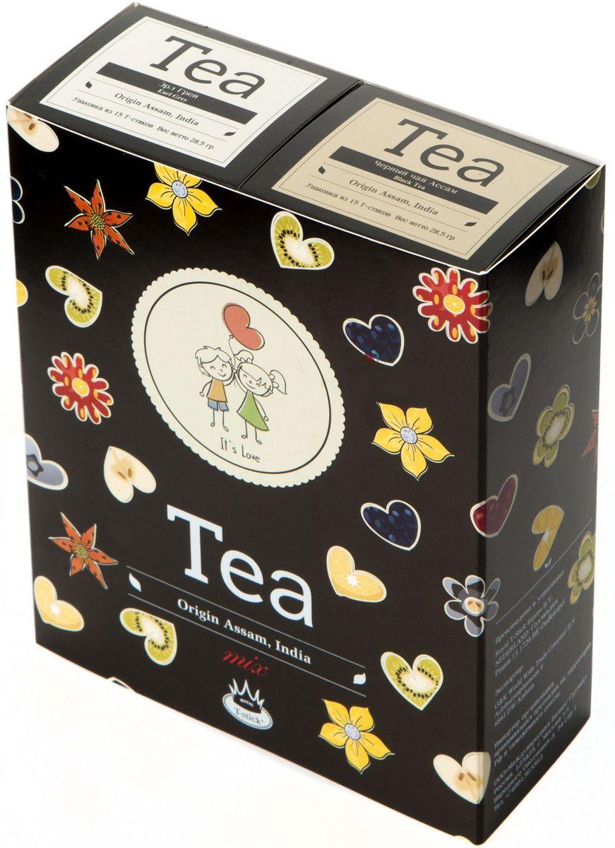 Подарочный набор Royal T-Stick: Earl Grey черный чай и High Tea черный чай в стиках, 30 шт2107Подарочный набор из 2- пачек чая премиум класса,упакован в коробку для транспортировки. Чай Ассам с бергамотом порадует вас насыщенным ,янтарно -красным цветом, терпким ароматом бергамота и пряным, солодово-медовым вкусом . Чай обладает тонизирующим свойством. Чай Ассам порадует вас насыщенным ,янтарно -красным цветом, терпким ароматом и пряным, солодово-медовым вкусом . Чай упакован в пищевую фольгу, которую можно использовать вместо ложечки для размешивания сахара. Опустите стик в кипяток, оставьте на 3 минуты, размешайте кусочек сахара. Достаньте стик из стакана, потрясите им о край стакана, так, чтобы стекли последние капли, и положите рядом. Вся влага останется внутри стика.Прекрасный подарок родным и близким,и отличный повод удивить коллег по работе и друзей, внедряя новую, элегантную культуру чаепития!