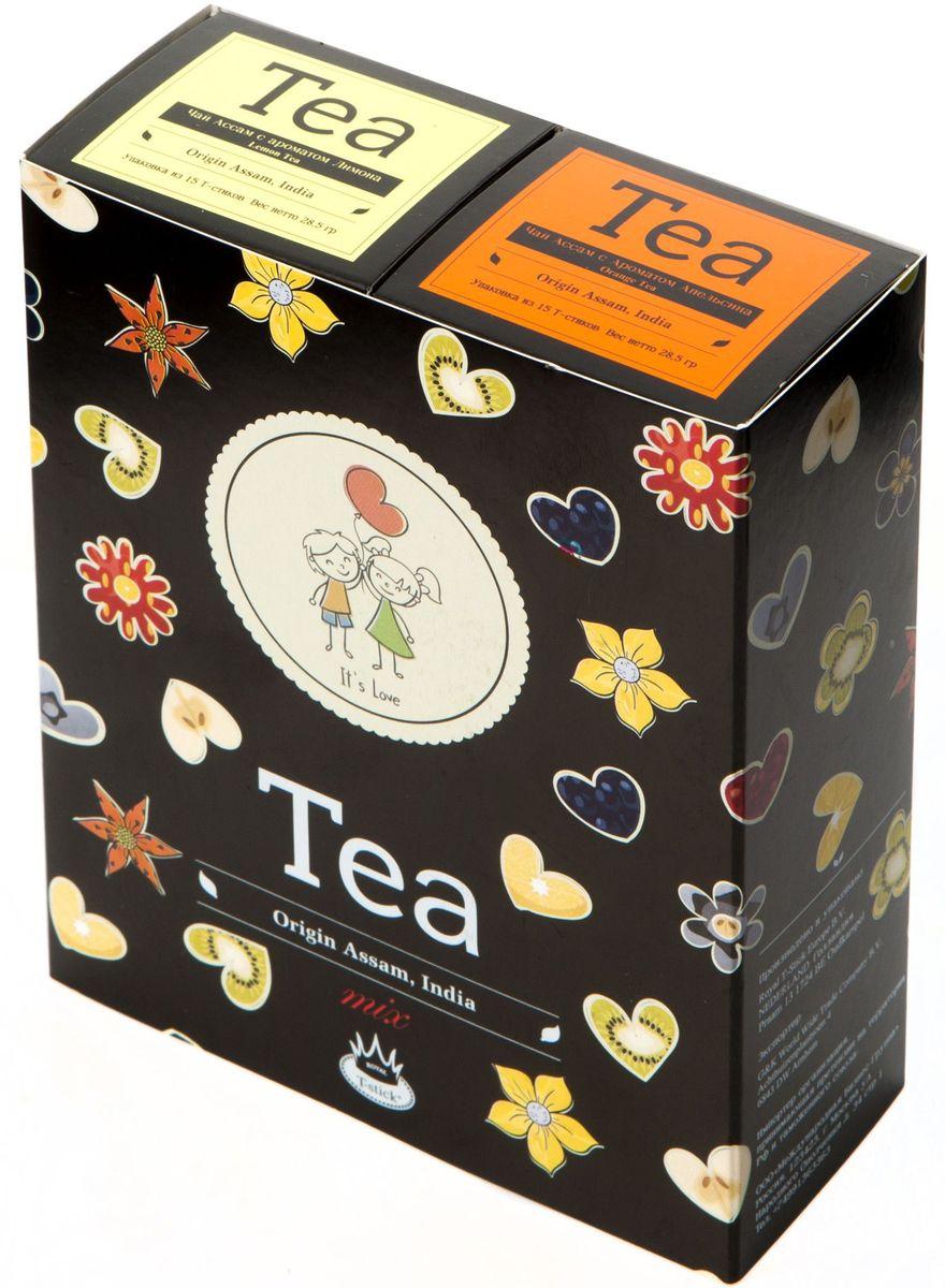 Подарочный набор Royal T-Stick: Orange Tea черный чай и Lemon Tea черный чай в стиках, 30 шт2129Подарочный набор из 2- пачек чая премиум класса,упакован в коробку для транспортировки. Натуральный черный чай с ароматом апельсина порадует вас золотисто-медовым цветом, тонким ароматом персика и изысканным пряным вкусом , который создается путем смешивания реальных кусочков апельсина и индийского чая из штата Ассам. Натуральный черный чай с ароматом лимона порадует вас золотисто-медовым цветом, тонким ароматом лимона, который создается путем смешивания реального лимона и индийского чая из штата Ассам. Чай упакован в пищевую фольгу, которую можно использовать вместо ложечки для размешивания сахара. Опустите стик в кипяток, оставьте на 3 минуты, размешайте кусочек сахара. Достаньте стик из стакана, потрясите им о край стакана, так, чтобы стекли последние капли, и положите рядом. Вся влага останется внутри стика.Прекрасный подарок родным и близким,и отличный повод удивить коллег по работе и друзей, внедряя новую, элегантную культуру чаепития!