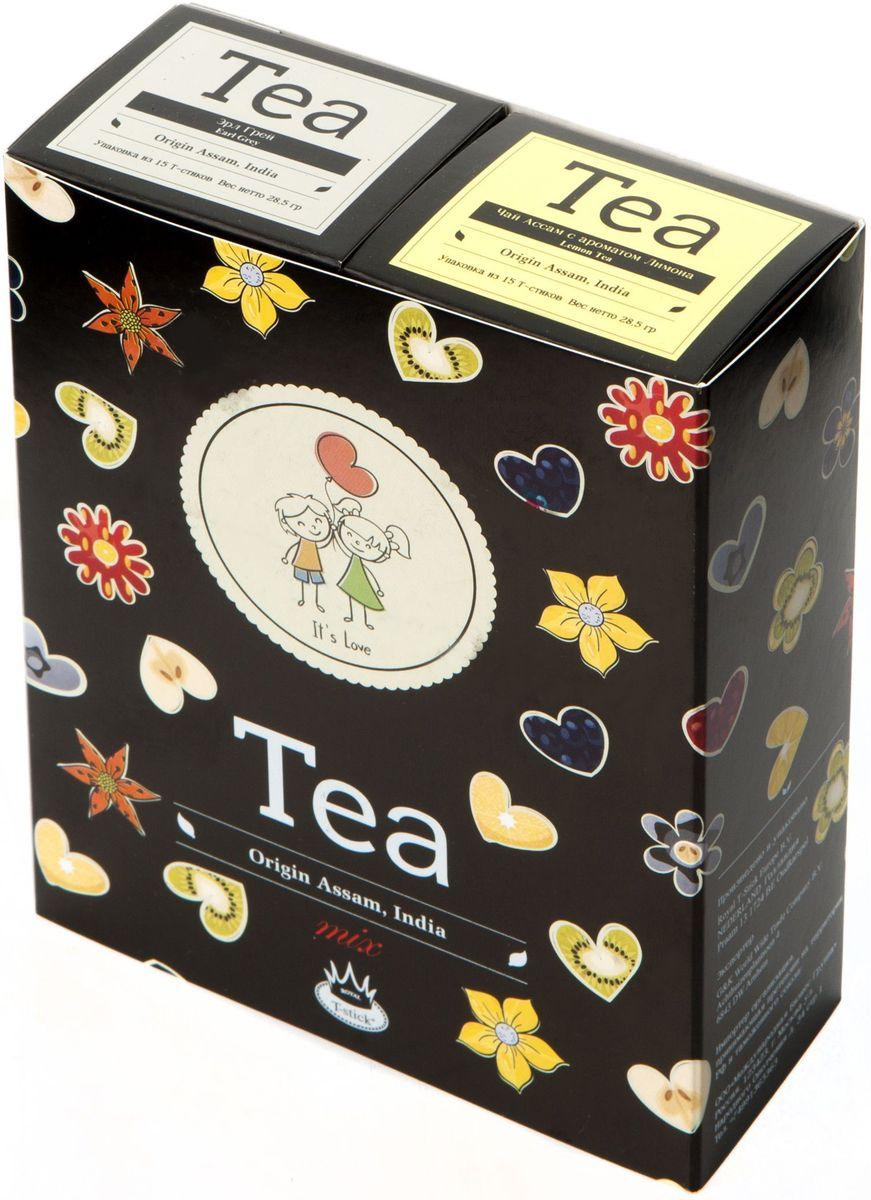 Подарочный набор Royal T-Stick: High Tea черный чай и Lemon Tea черный чай в стиках, 30 шт2130Подарочный набор из 2- пачек чая премиум класса,упакован в коробку для транспортировки. Чай Ассам порадует вас насыщенным ,янтарно -красным цветом, терпким ароматом и пряным, солодово-медовым вкусом . Натуральный черный чай с ароматом лимона порадует вас золотисто-медовым цветом, тонким ароматом лимона, который создается путем смешивания реального лимона и индийского чая из штата Ассам. Чай упакован в пищевую фольгу, которую можно использовать вместо ложечки для размешивания сахара. Опустите стик в кипяток, оставьте на 3 минуты, размешайте кусочек сахара. Достаньте стик из стакана, потрясите им о край стакана, так, чтобы стекли последние капли, и положите рядом. Вся влага останется внутри стика.Прекрасный подарок родным и близким,и отличный повод удивить коллег по работе и друзей, внедряя новую, элегантную культуру чаепития!