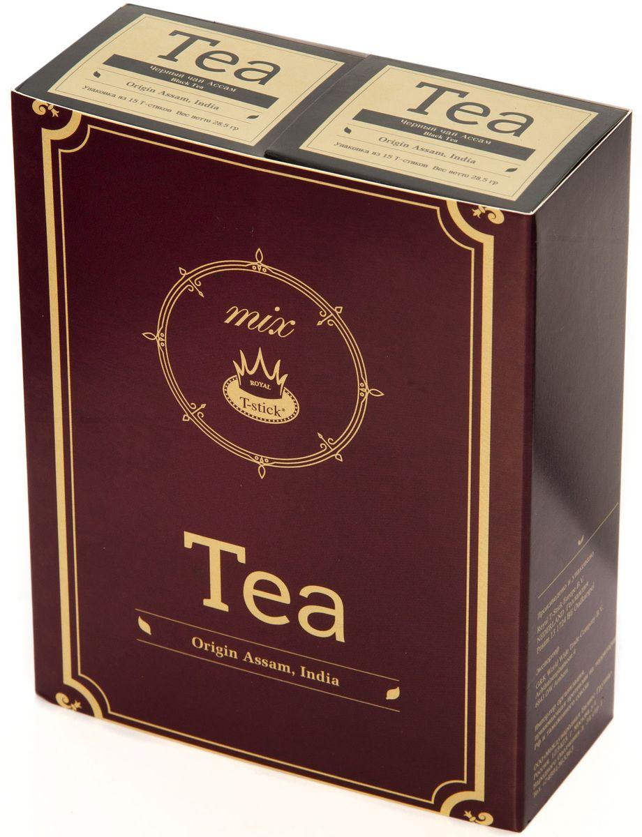 Подарочный набор Royal T-Stick: High Tea черный чай и High Tea черный чай в стиках, 30 шт77100Подарочный набор из 2- пачек чая премиум класса,упакован в коробку для транспортировки. Чай Ассам порадует вас насыщенным ,янтарно -красным цветом, терпким ароматом и пряным, солодово-медовым вкусом . Чай упакован в пищевую фольгу, которую можно использовать вместо ложечки для размешивания сахара. Опустите стик в кипяток, оставьте на 3 минуты, размешайте кусочек сахара. Достаньте стик из стакана, потрясите им о край стакана, так, чтобы стекли последние капли, и положите рядом. Вся влага останется внутри стика.Прекрасный подарок родным и близким,и отличный повод удивить коллег по работе и друзей, внедряя новую, элегантную культуру чаепития!