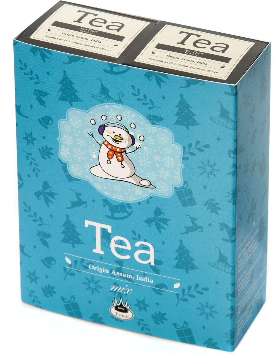 Подарочный набор Royal T-Stick: Earl Grey черный чай и Earl Grey черный чай в стиках, 30 шт77115Подарочный набор из 2- пачек чая премиум класса,упакован в коробку для транспортировки. Чай Ассам с бергамотом порадует вас насыщенным ,янтарно -красным цветом, терпким ароматом бергамота и пряным, солодово-медовым вкусом . Чай обладает тонизирующим свойством. Чай упакован в пищевую фольгу, которую можно использовать вместо ложечки для размешивания сахара. Опустите стик в кипяток, оставьте на 3 минуты, размешайте кусочек сахара. Достаньте стик из стакана, потрясите им о край стакана, так, чтобы стекли последние капли, и положите рядом. Вся влага останется внутри стика.Прекрасный подарок родным и близким,и отличный повод удивить коллег по работе и друзей, внедряя новую, элегантную культуру чаепития!