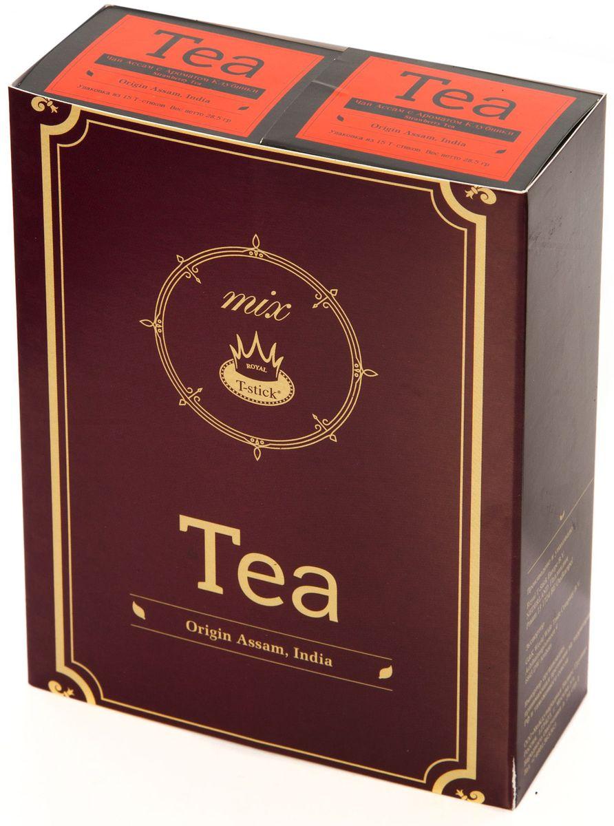 Подарочный набор Royal T-Stick: Strawberry Tea черный чай и Strawberry Tea черный чай в стиках, 30 шт77410Подарочный набор из 2- пачек чая премиум класса,упакован в коробку для транспортировки. Натуральный черный чай с ароматом клубники порадует вас золотисто-медовым цветом, тонким ароматом клубники, который создается путем смешивания реальных кусочков клубники и индийского чая из штата Ассам. Чай упакован в пищевую фольгу, которую можно использовать вместо ложечки для размешивания сахара. Опустите стик в кипяток, оставьте на 3 минуты, размешайте кусочек сахара. Достаньте стик из стакана, потрясите им о край стакана, так, чтобы стекли последние капли, и положите рядом. Вся влага останется внутри стика.Прекрасный подарок родным и близким,и отличный повод удивить коллег по работе и друзей, внедряя новую, элегантную культуру чаепития!
