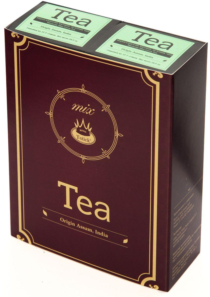 Подарочный набор Royal T-Stick: Mint Green Tea зеленый чай и Mint Green Tea зеленый чай в стиках, 30 шт77600Подарочный набор из 2- пачек чая премиум класса,упакован в коробку для транспортировки. Натуральный зеленый чай с ароматом мяты порадует вас своим тонким и нежным вкусом. Способствует расщеплению жиров и успокаивает нервную систему. Чай упакован в пищевую фольгу, которую можно использовать вместо ложечки для размешивания сахара. Опустите стик в кипяток, оставьте на 3 минуты, размешайте кусочек сахара. Достаньте стик из стакана, потрясите им о край стакана, так, чтобы стекли последние капли, и положите рядом. Вся влага останется внутри стика.Прекрасный подарок родным и близким,и отличный повод удивить коллег по работе и друзей, внедряя новую, элегантную культуру чаепития!